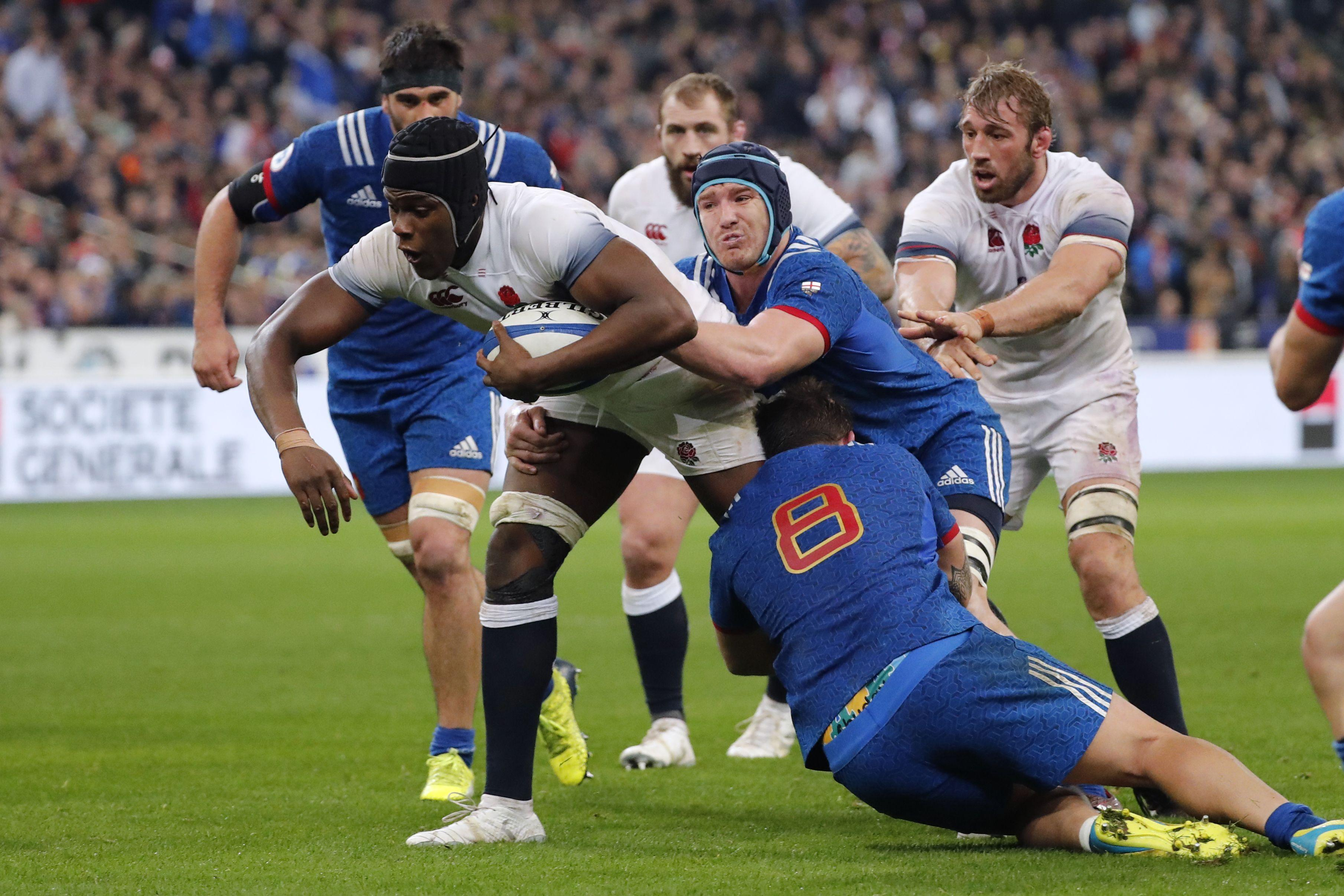 Maro Itoje had been making progress in a maul in the 49th minute when the alleged bite took place