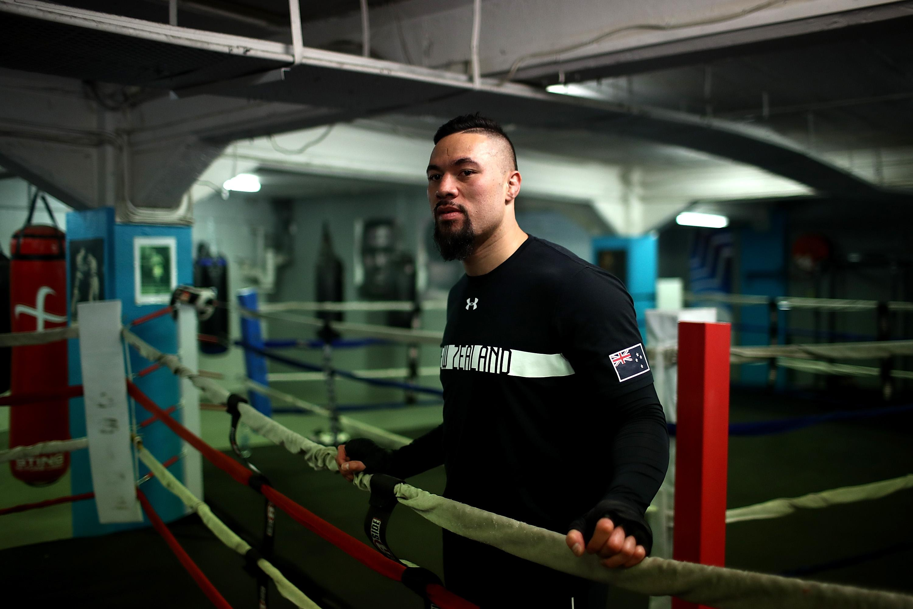 Joseph Parker has banned handshakes in London to avoid GERMS