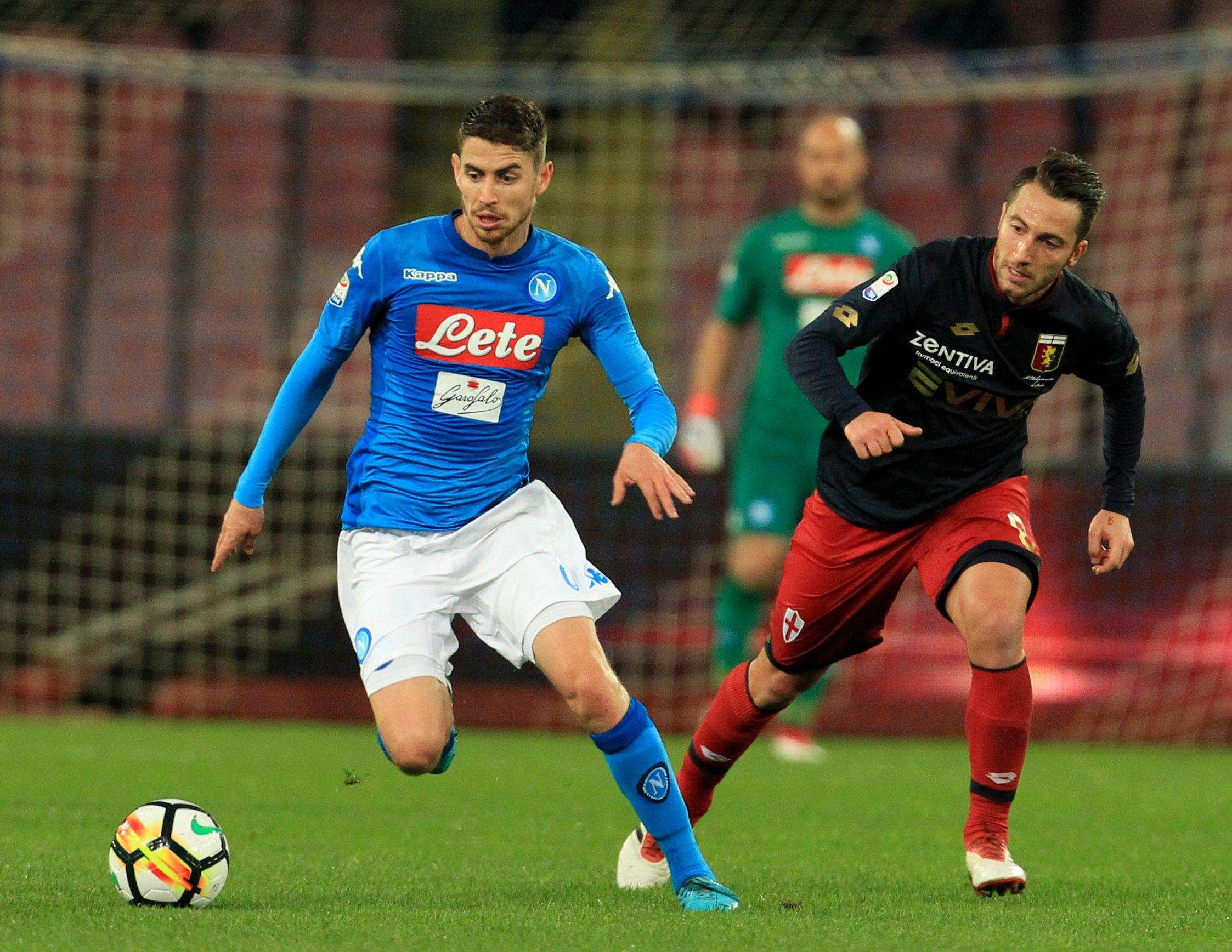 Napoli playmaker Jorginho has echoes of Carrick about his style of play