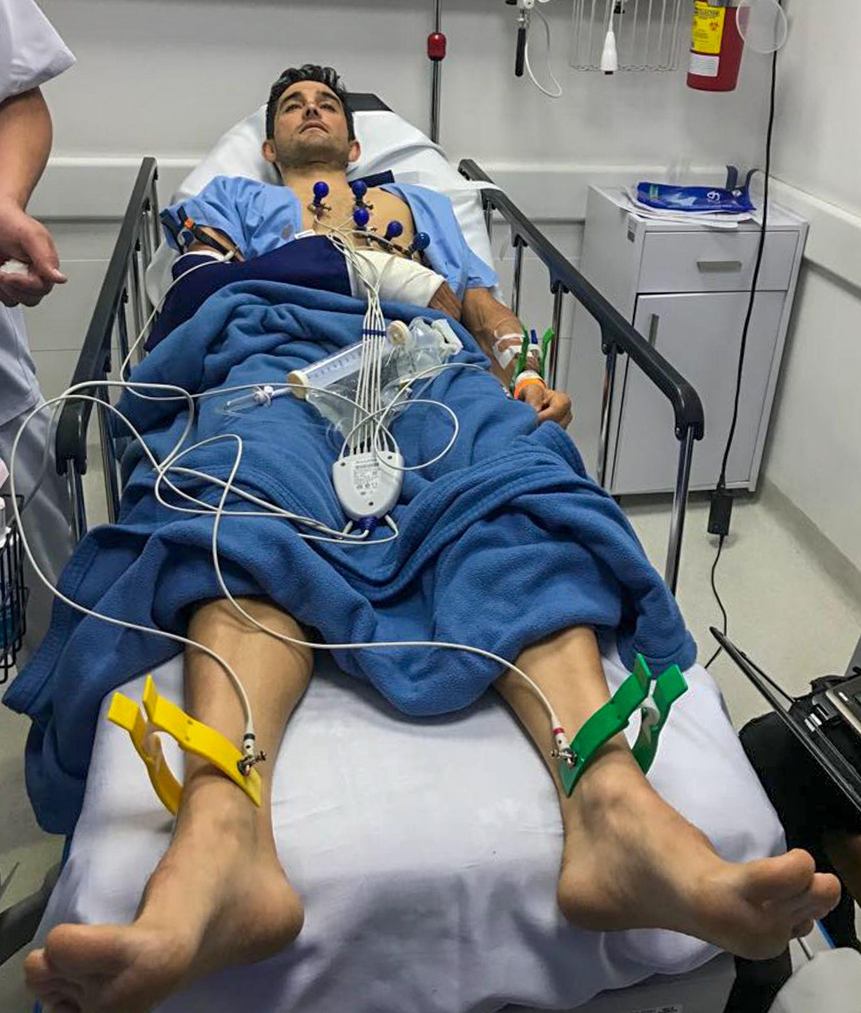 Oscar Sevilla is in hospital after being attacked by muggers in Colombia who stole his £10,000 bike