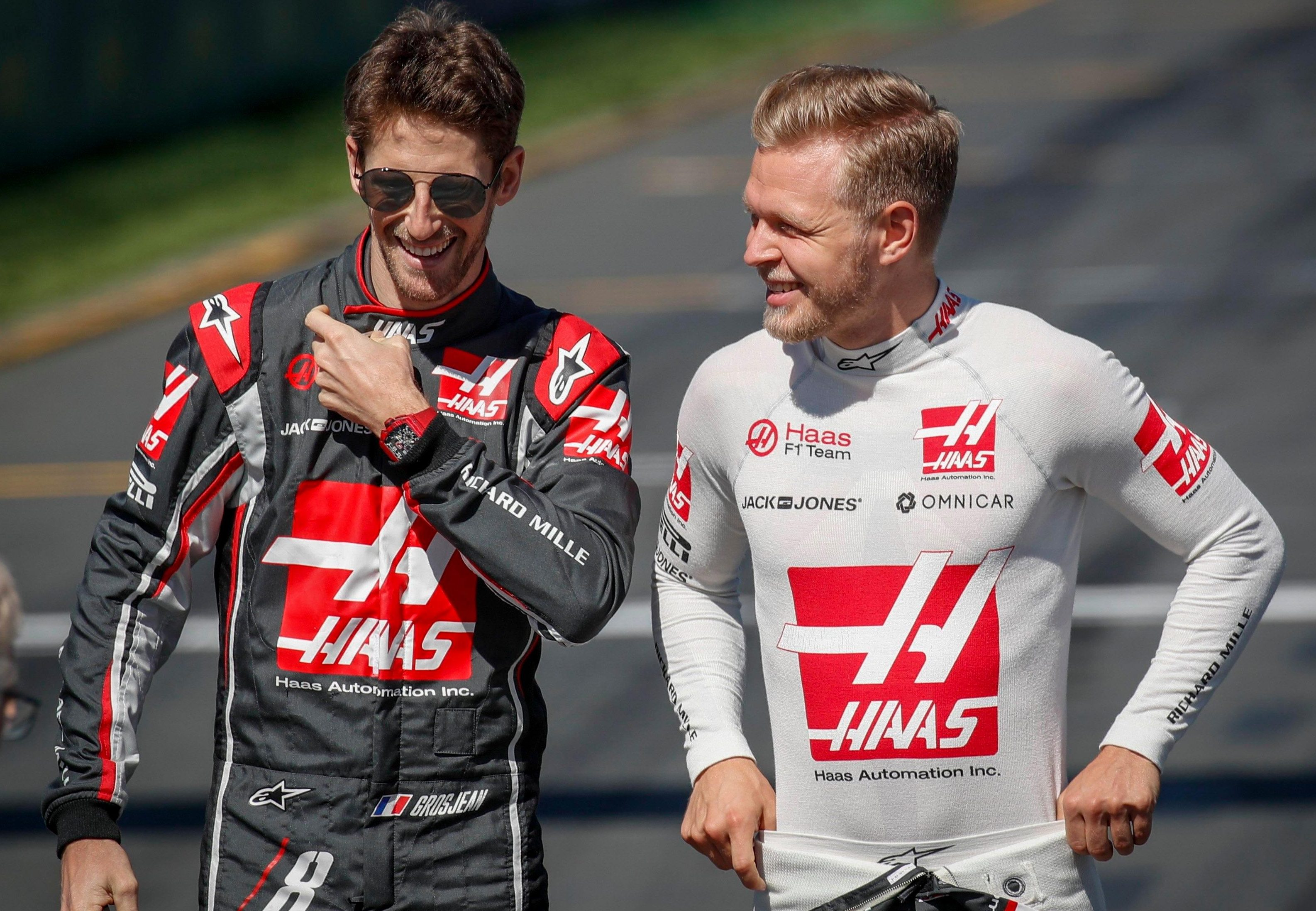 Rivals are sceptical about the progress of Haas drivers Kevin Magnussen and Romain Grosjean this season