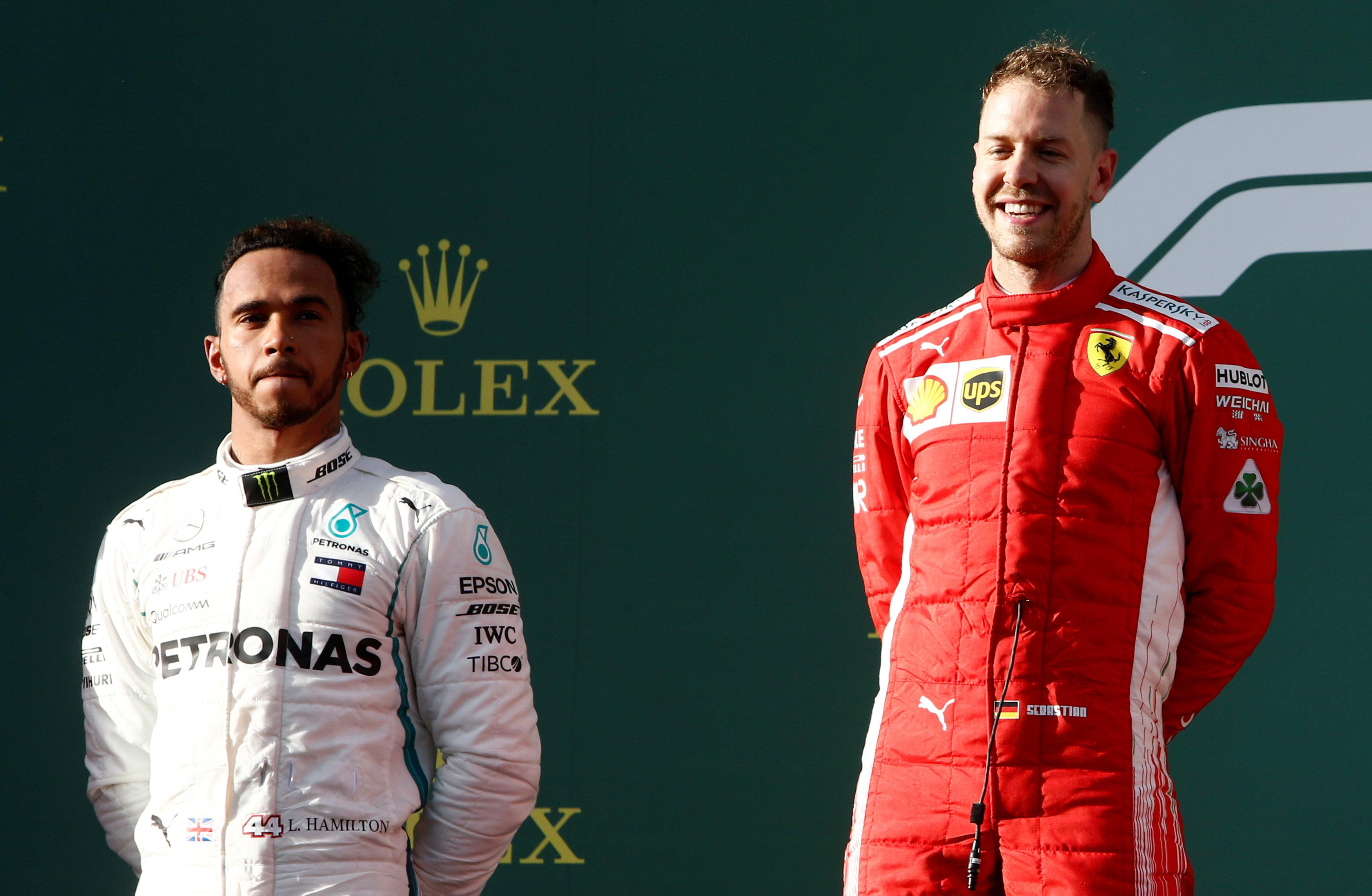 Lewis Hamilton looked to have the race in the bag before a Mercedes blunder allowed Sebastian Vettel to win