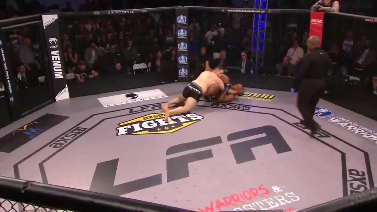 Drew Chatman was disqualified after celebrating his first MMA win
