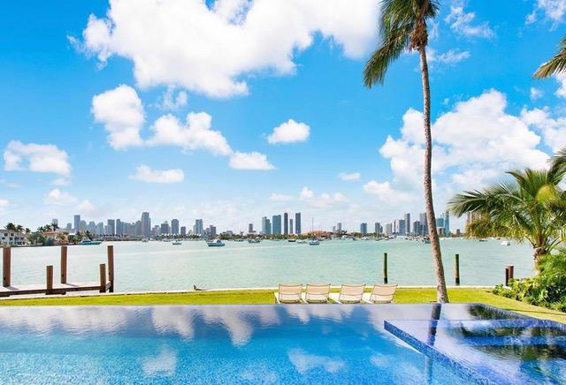 The outdoor pool has to be seen to be believed with stunning views over Miami itself
