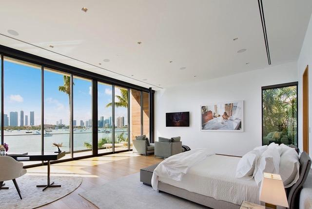 The seven bedrooms have outstanding views over the marina that houses hundreds of yachts
