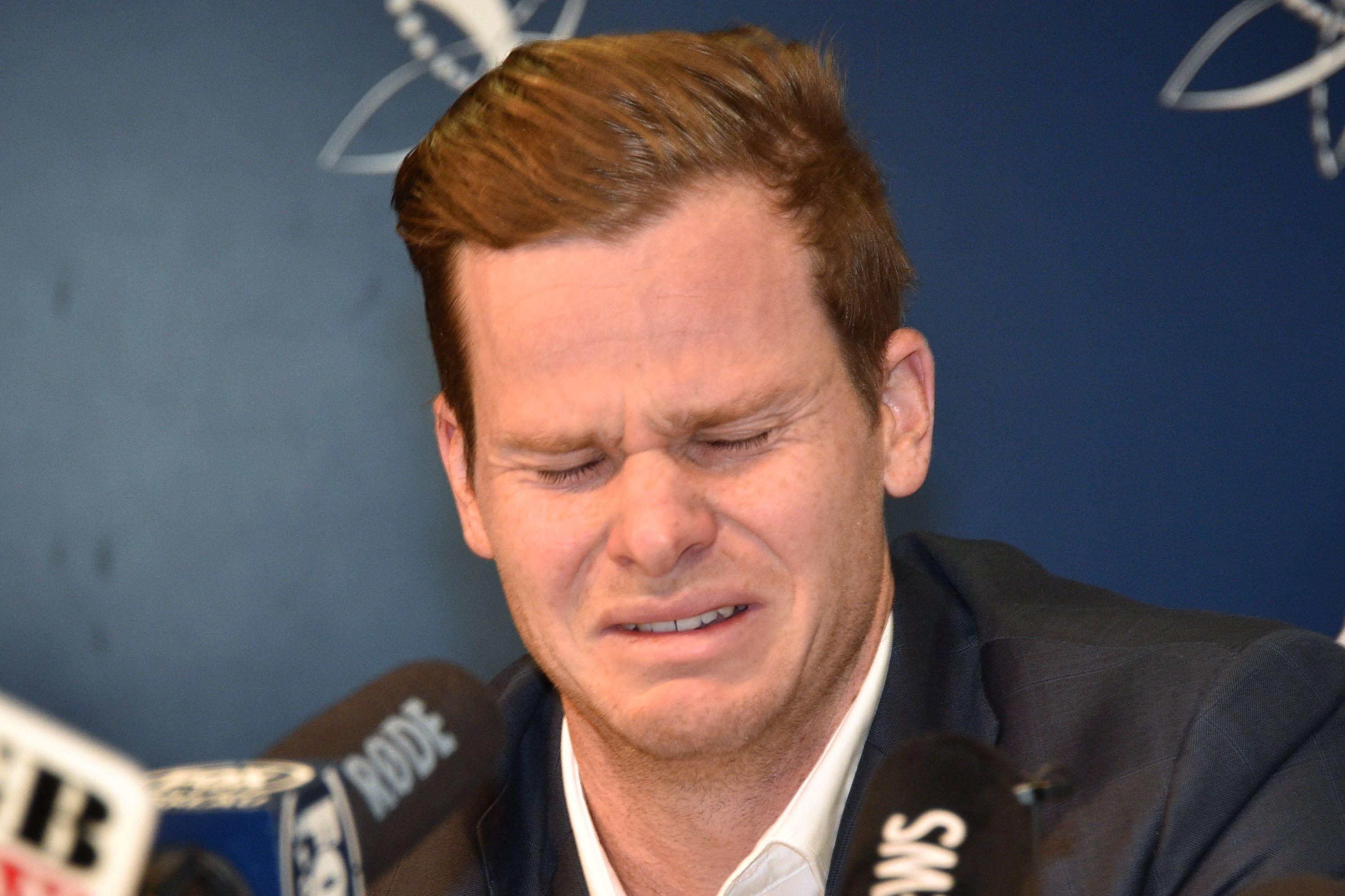 Steve Smith cried as he apologised for Australia's cheat storm