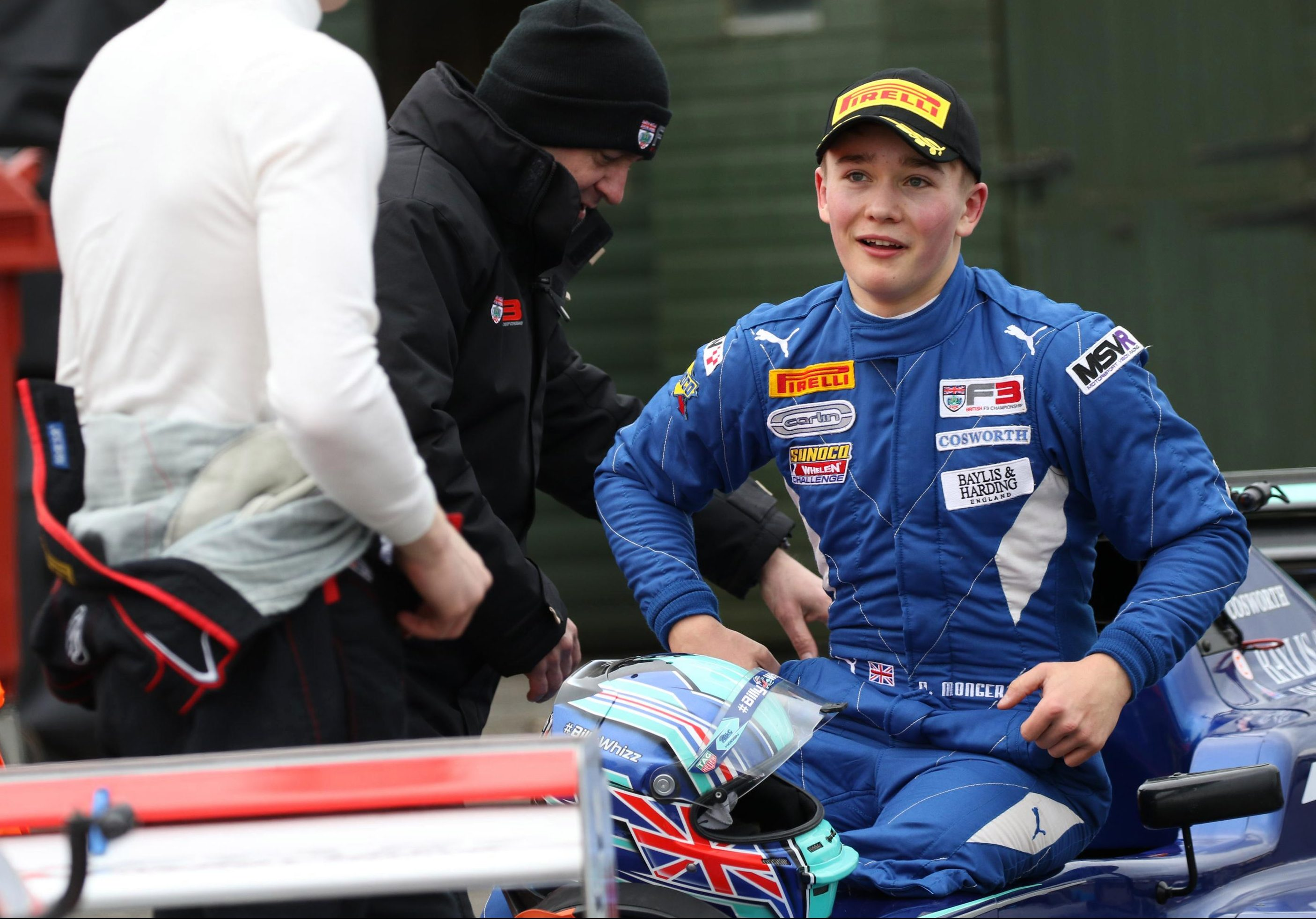 Billy Monger must be delighted with his return to racing - and a podium debut
