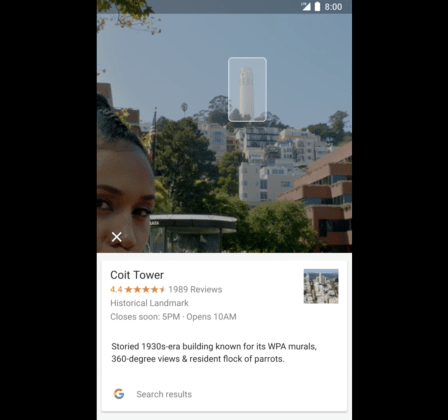 Google Lens can identify landmarks, even if they're not very clear