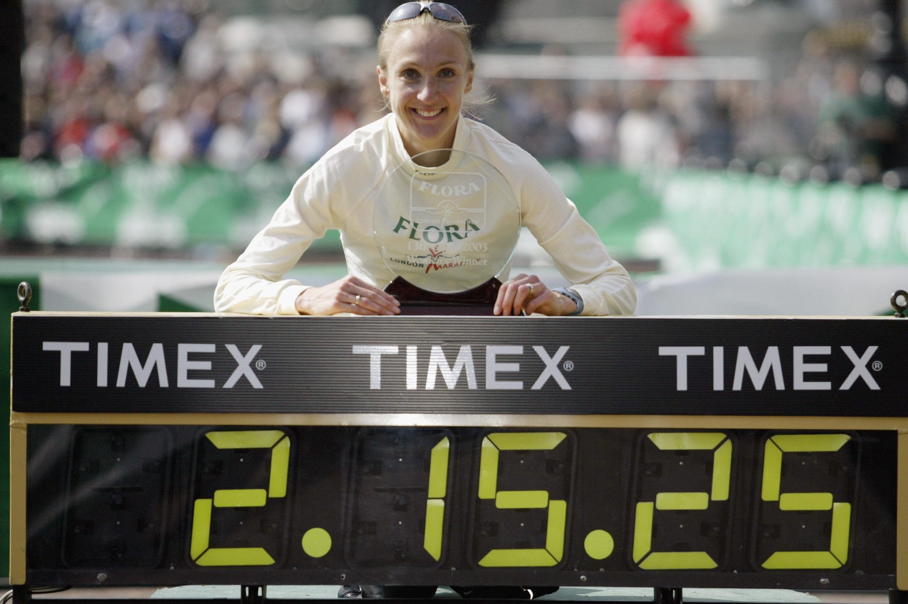 Paula Radcliffe's world record has stood since 2003