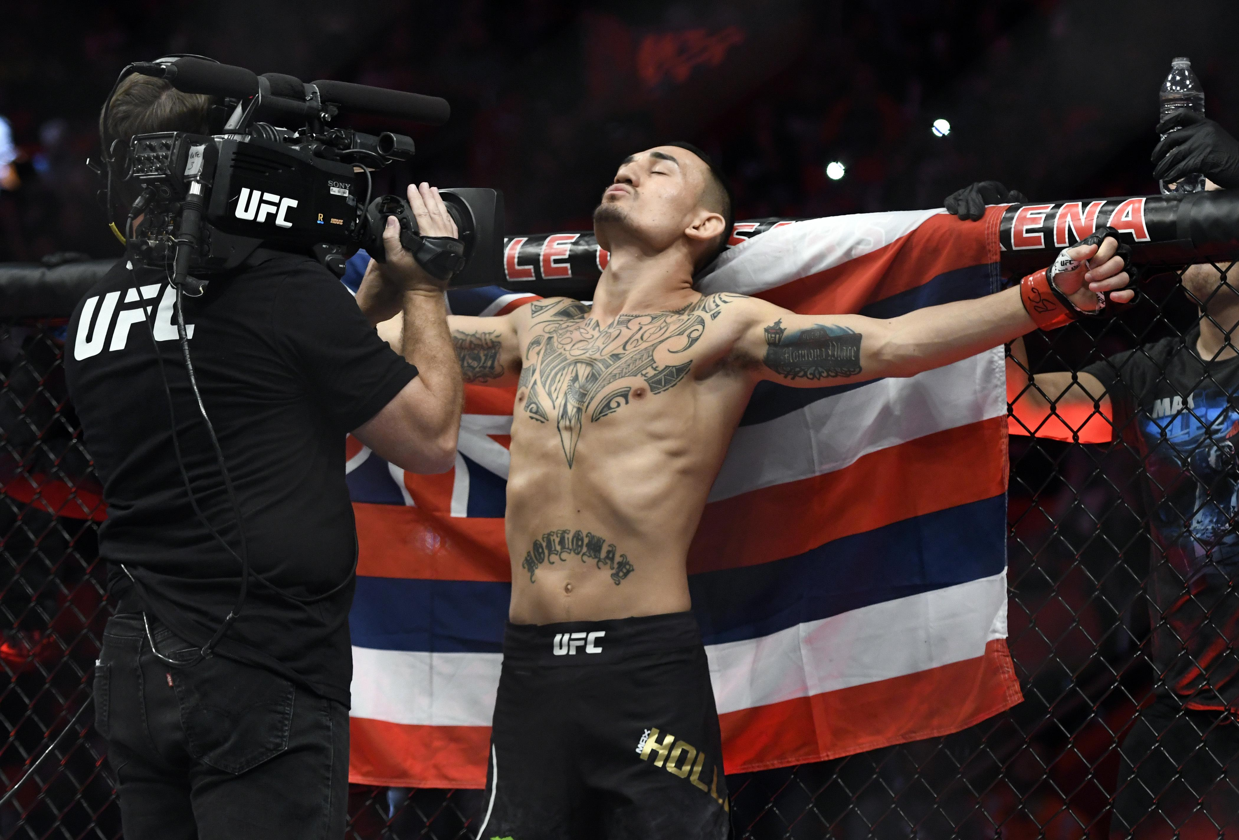 Old foe Max Holloway will get the chance to become lightweight champ this weekend