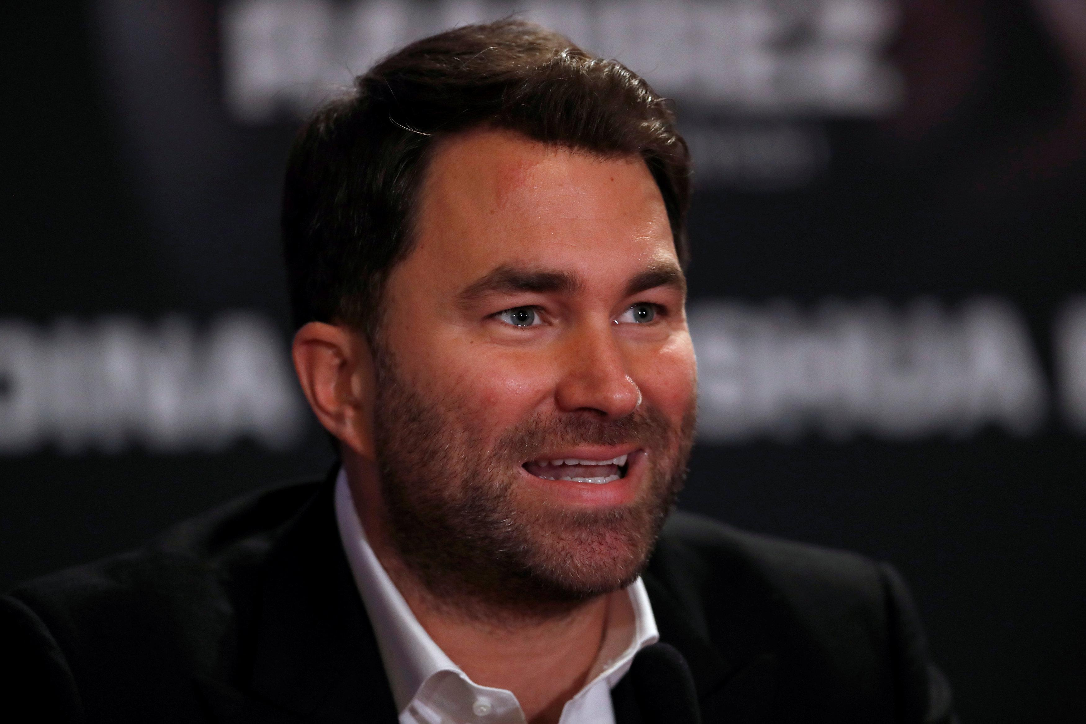 Eddie Hearn refused to bow to Wilder's demands of a 50/50 split for the £75m bout
