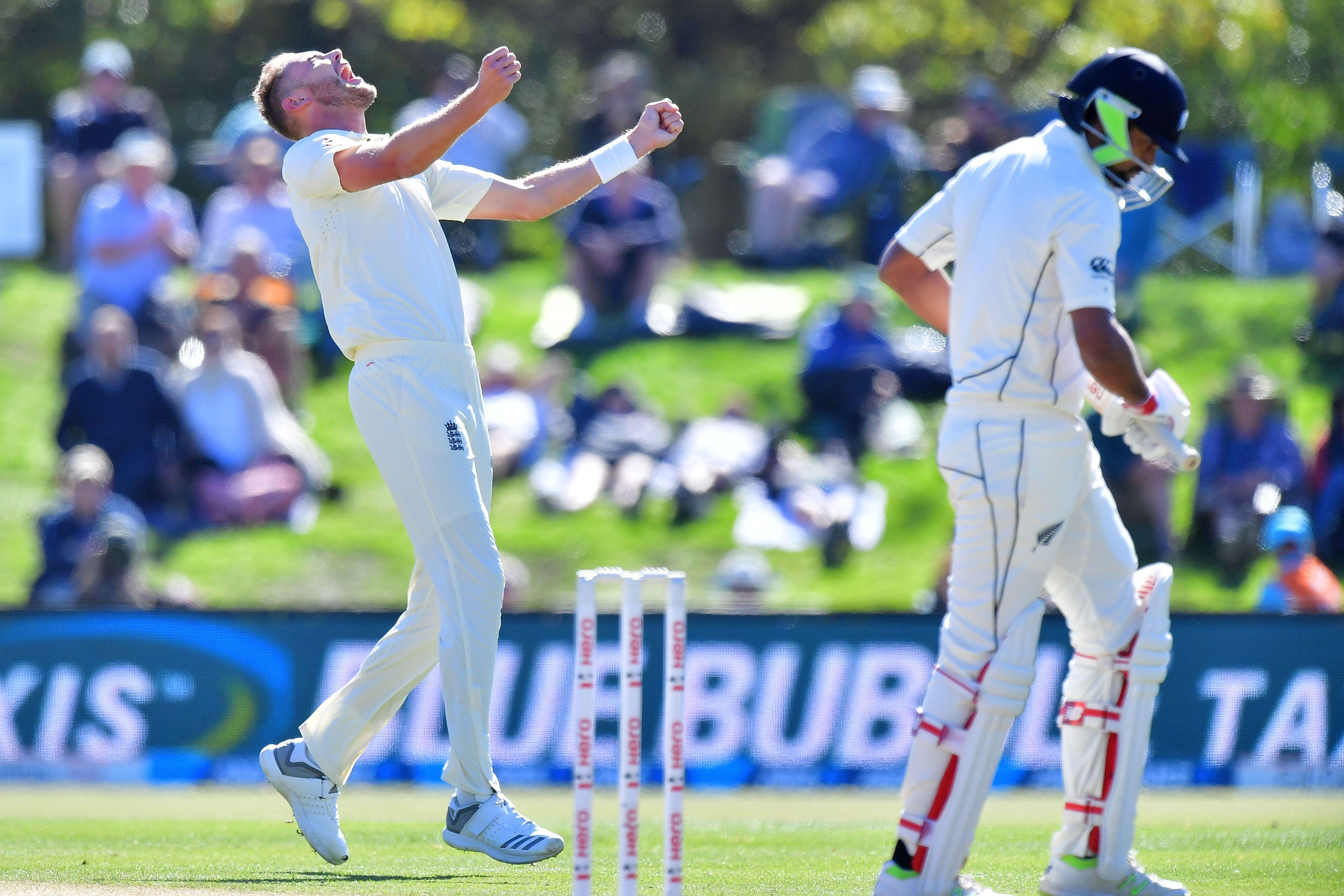 Stuart Broad celebrates first five-wicket haul as Ish Sodhi leaves field — and there was still time for one more