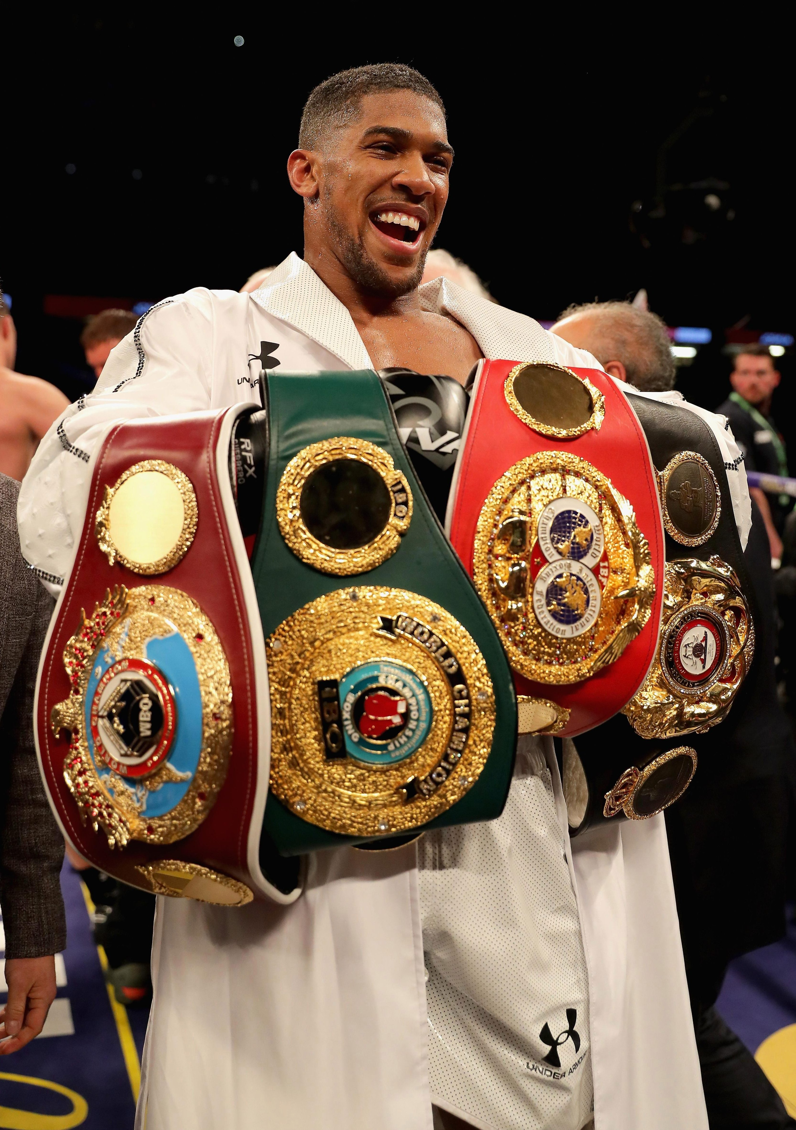 Anthony Joshua has promised to knock Deontay Wilder out if they ever fight
