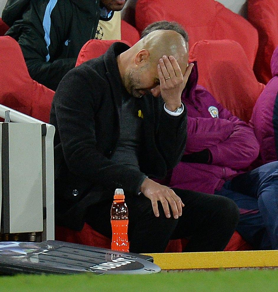 Pep Guardiola will be hoping there will be no hangover from Citys 3-0 loss to Liverpool