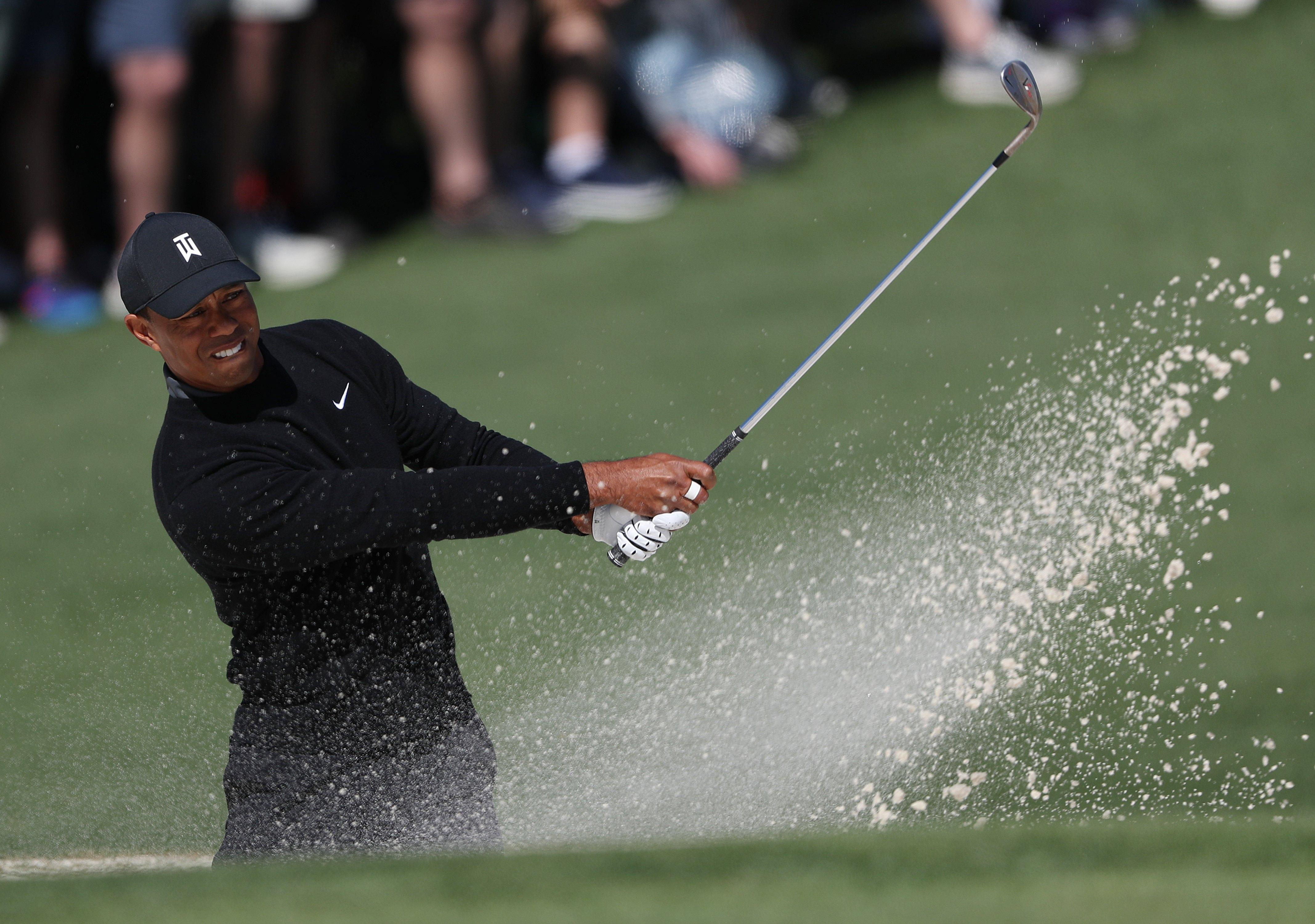 Tiger Woods was erratic in his play on his way to a score of 73 on Thursday