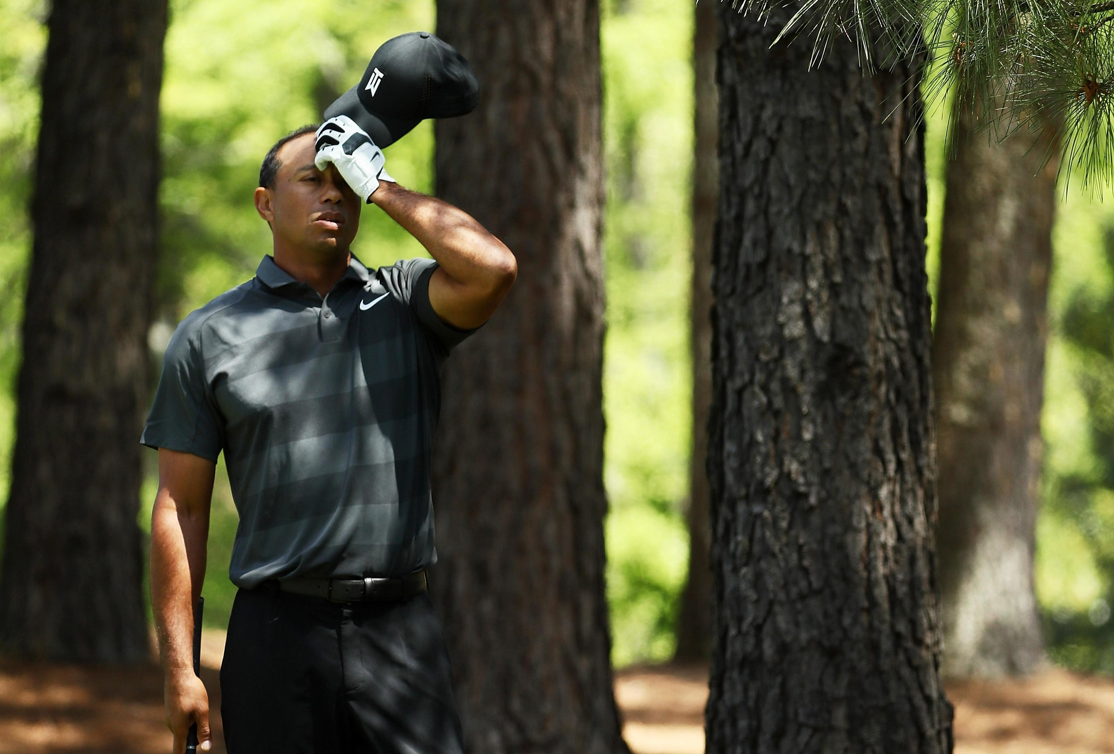 Tiger Woods had a frustrating first day at the Masters