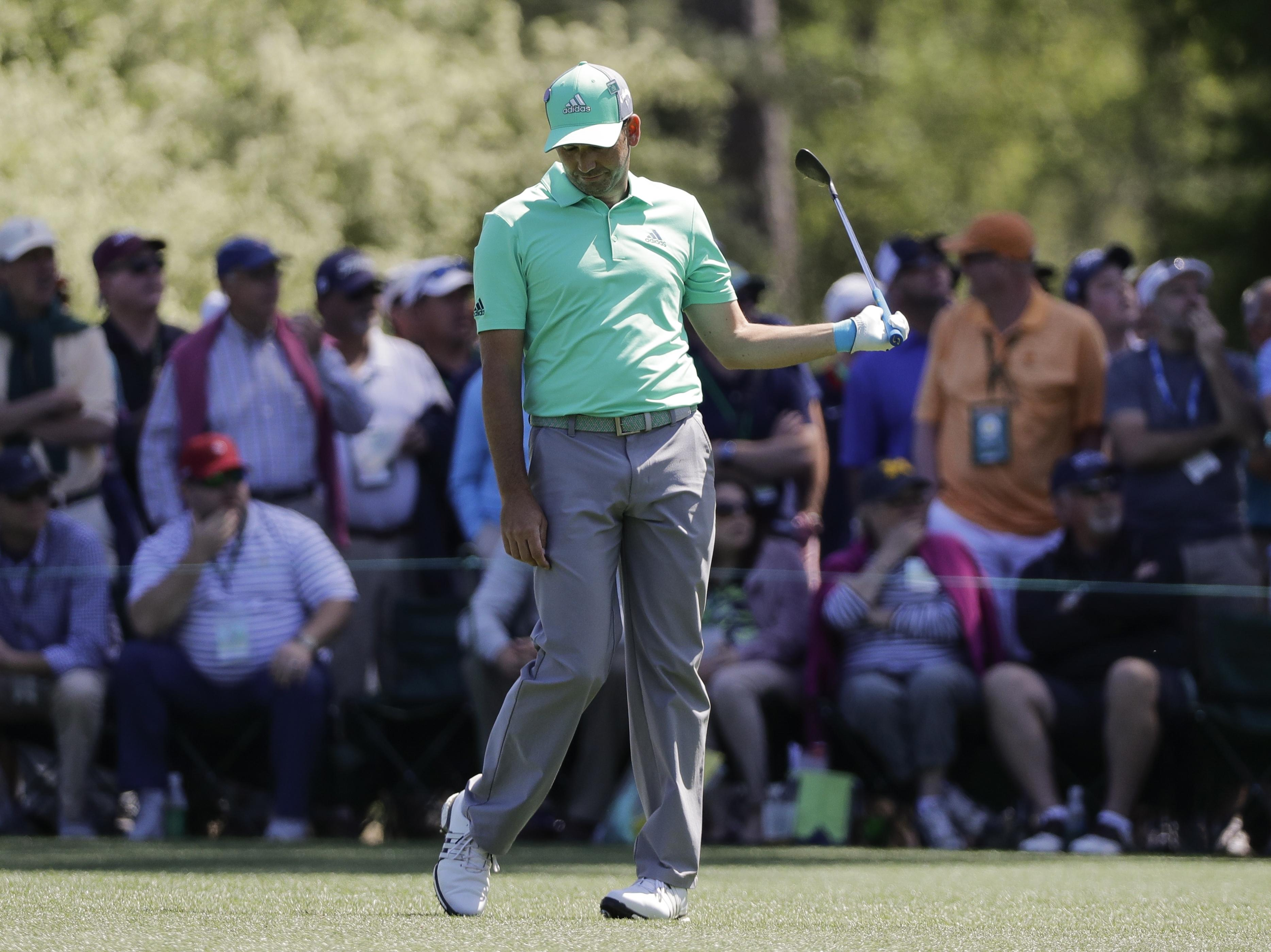 Sergio Garcia made a card-wrecking 13 on the par-five 15th