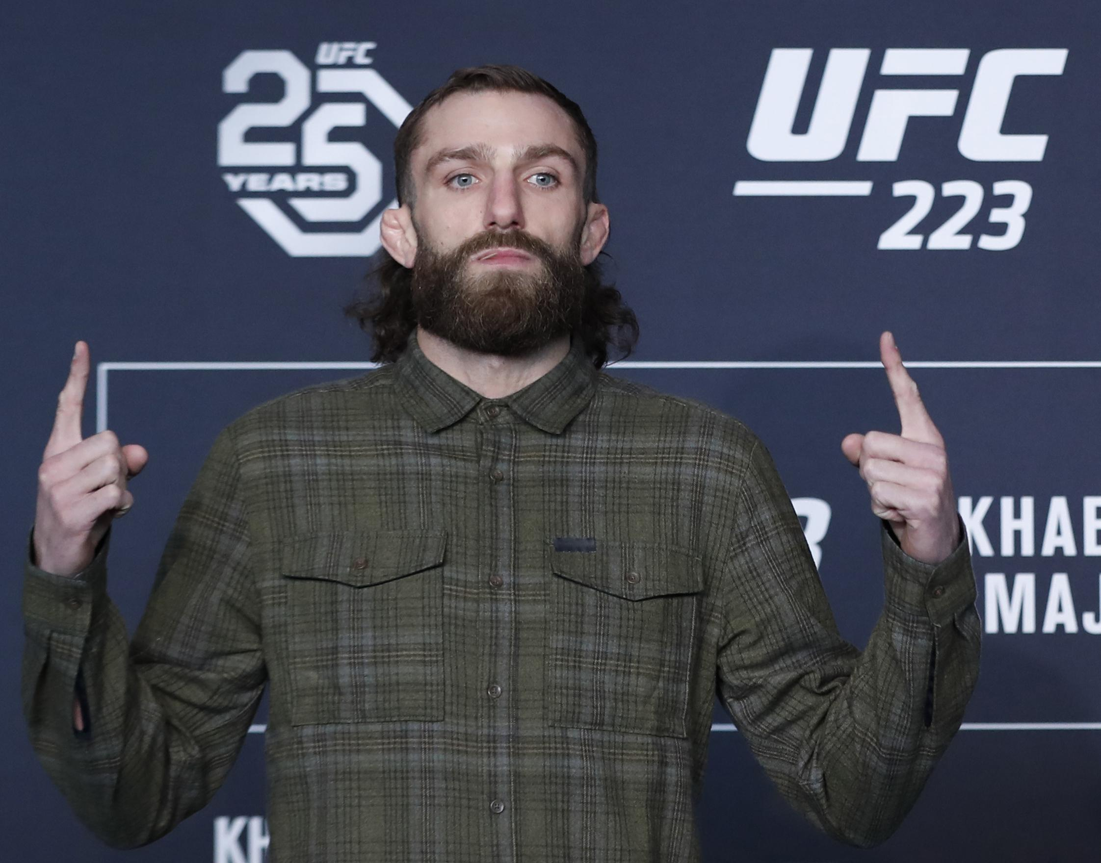 Michael Chiesa has seen his fight scrapped after suffering multiple cuts