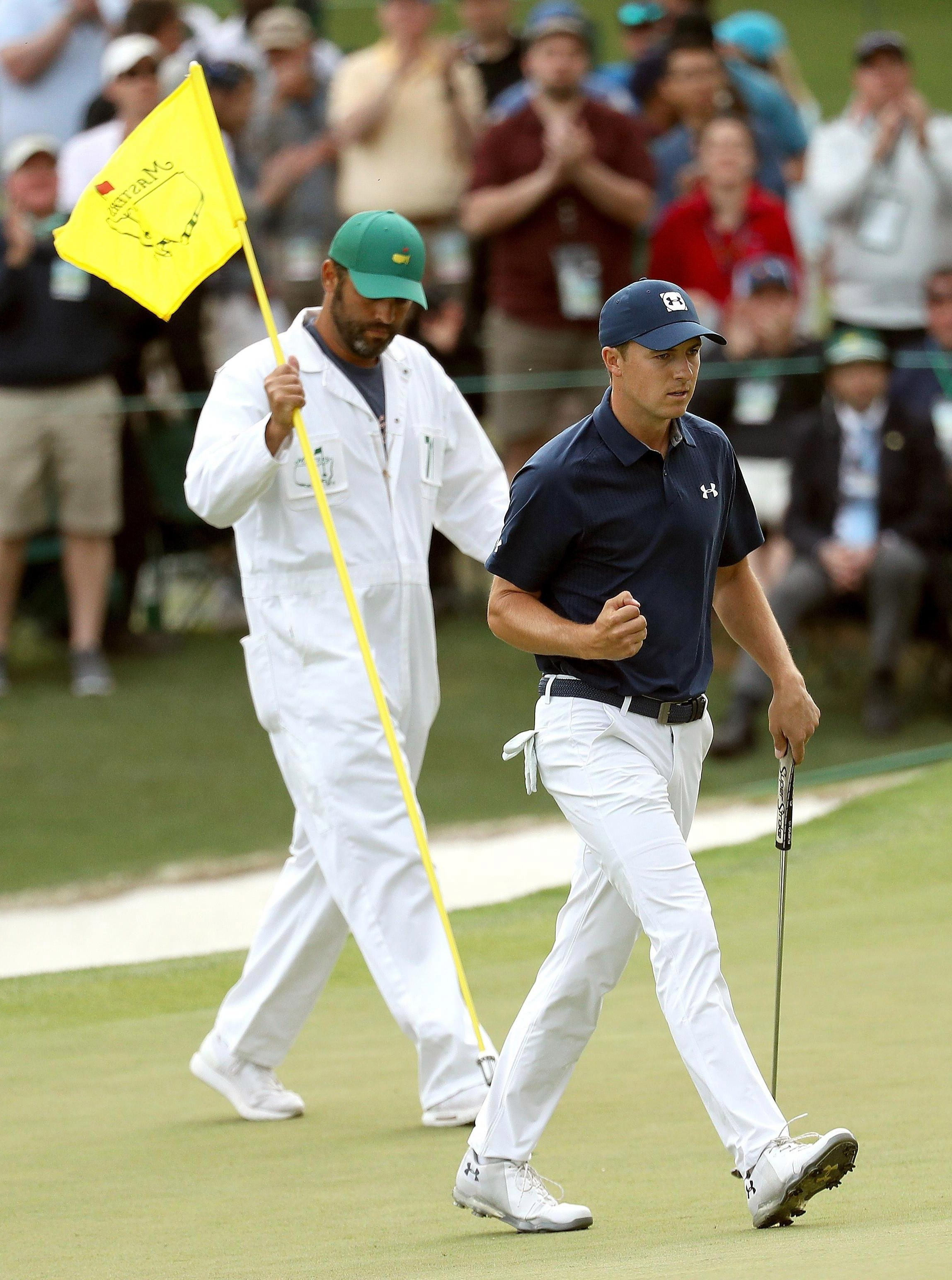 Jordan Spieth has occupied top spot in nine of 17 rounds he at The Masters