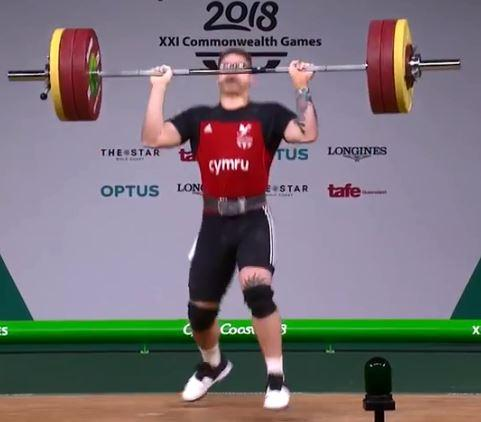 Parry, 27, failed to get the bar over his head when attempting his first lift