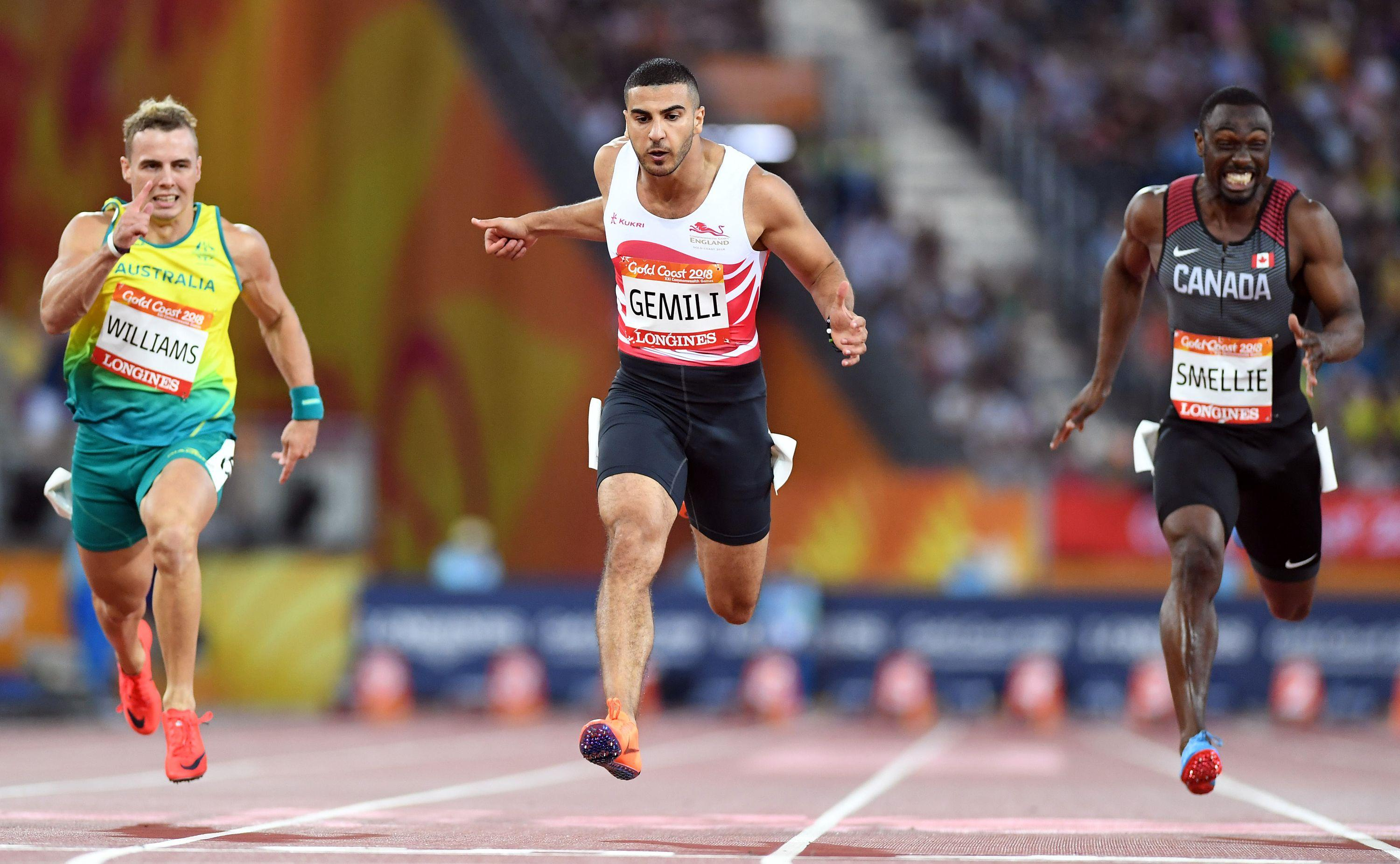 Adam Gemili has had to pull out of the race with a thigh issue