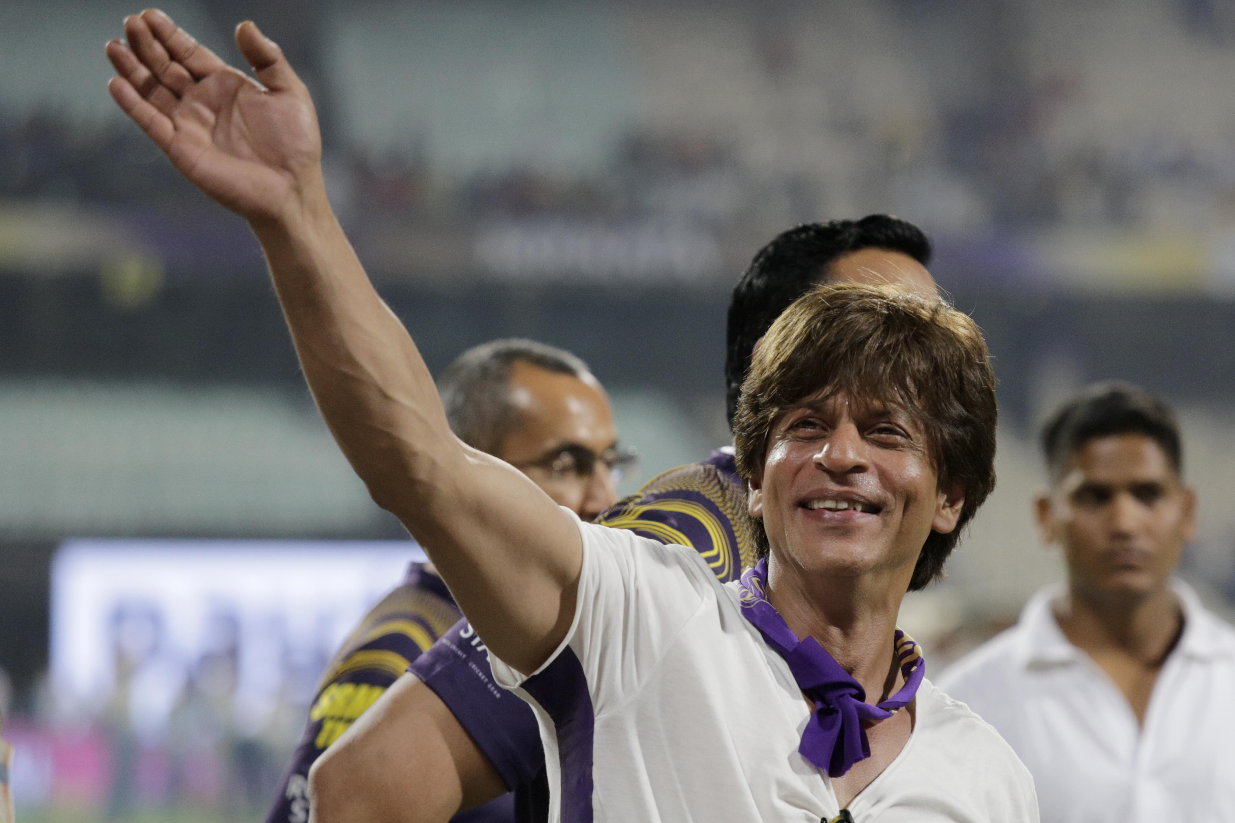 The 'King of Bollywood' Shah Rukh Khan owns the Kolkata Knight Riders of the IPL
