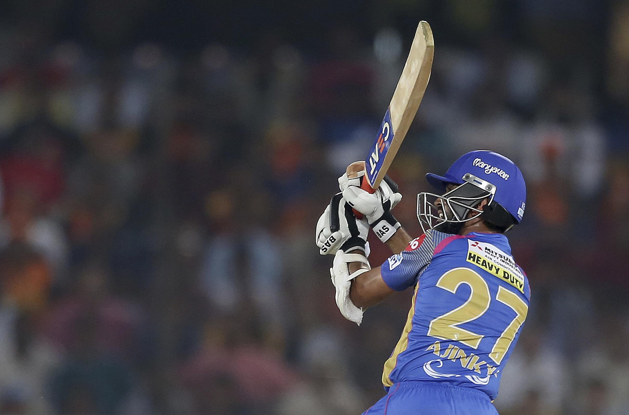 Ajinkya Rahane hit 45 from 40 deliveries at the top of the Royals order