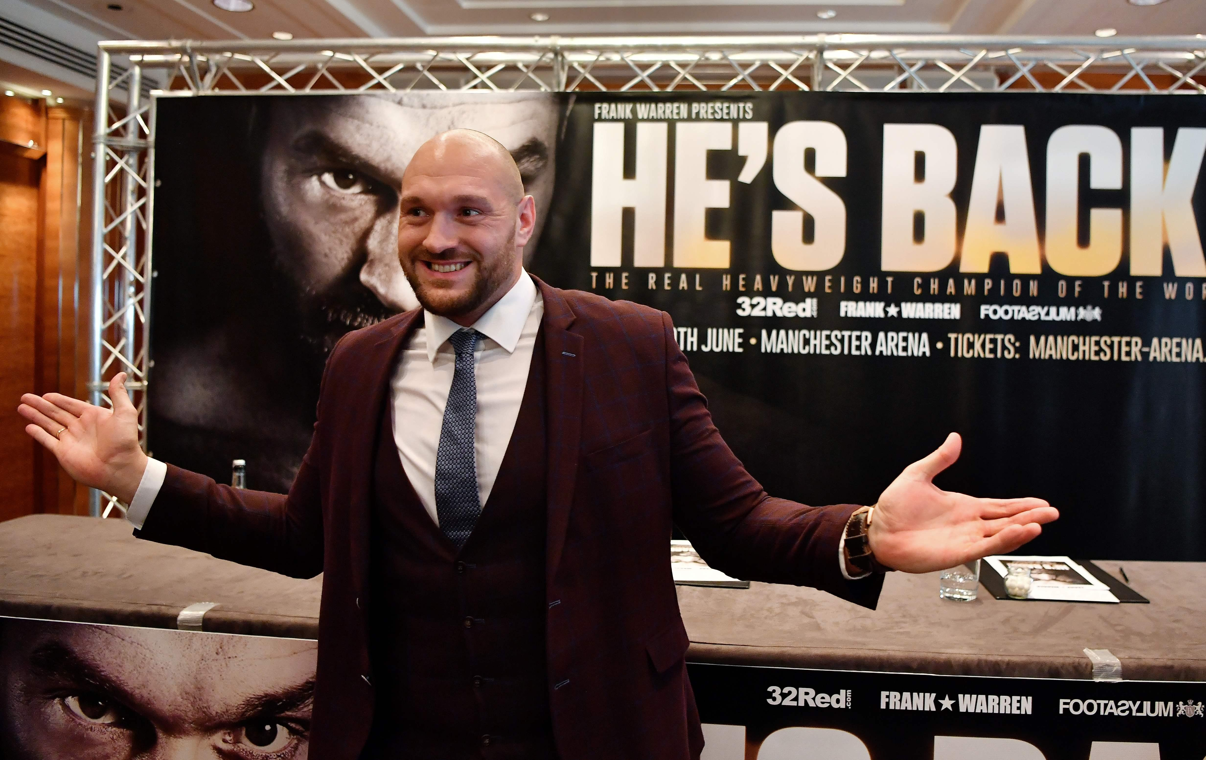 Tyson Fury is closing in on a return to the ring