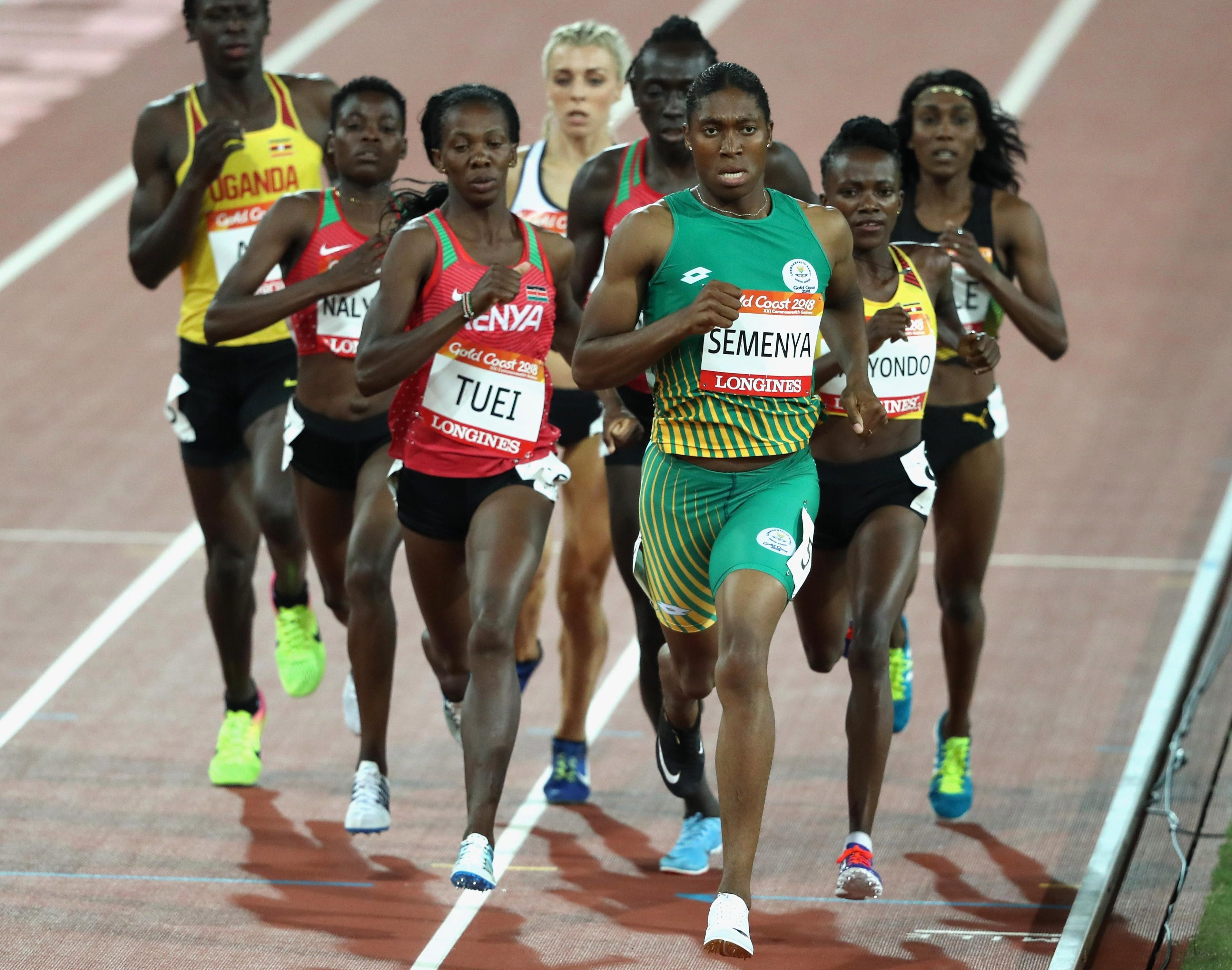 Semenya led the pack from start to finish in the Gold Coast as she eased to a Commonwealth Games record