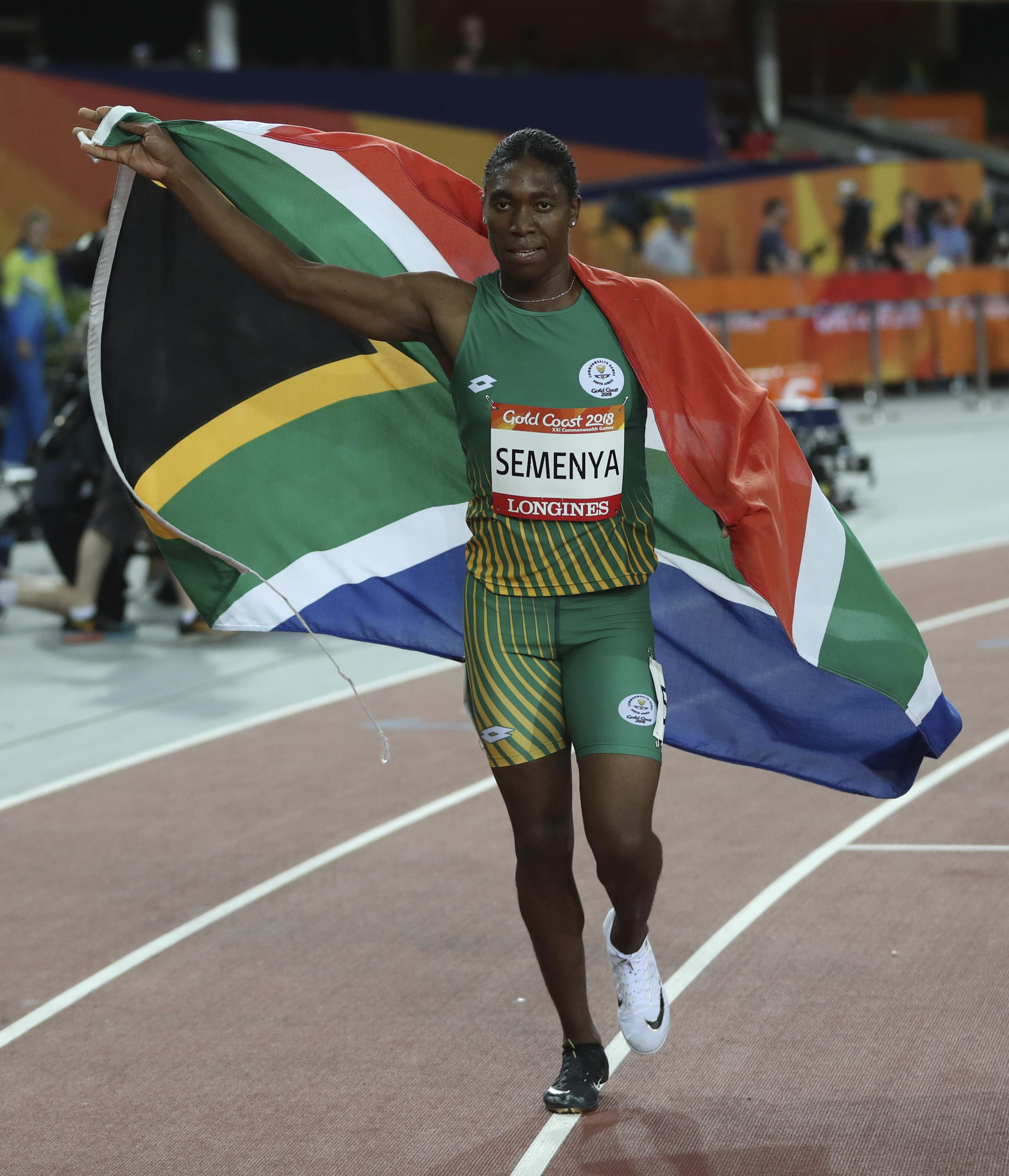 Caster Semenya celebrates her Commonwealth Games gold in the 800m this month but will be hit by new IAAF rules