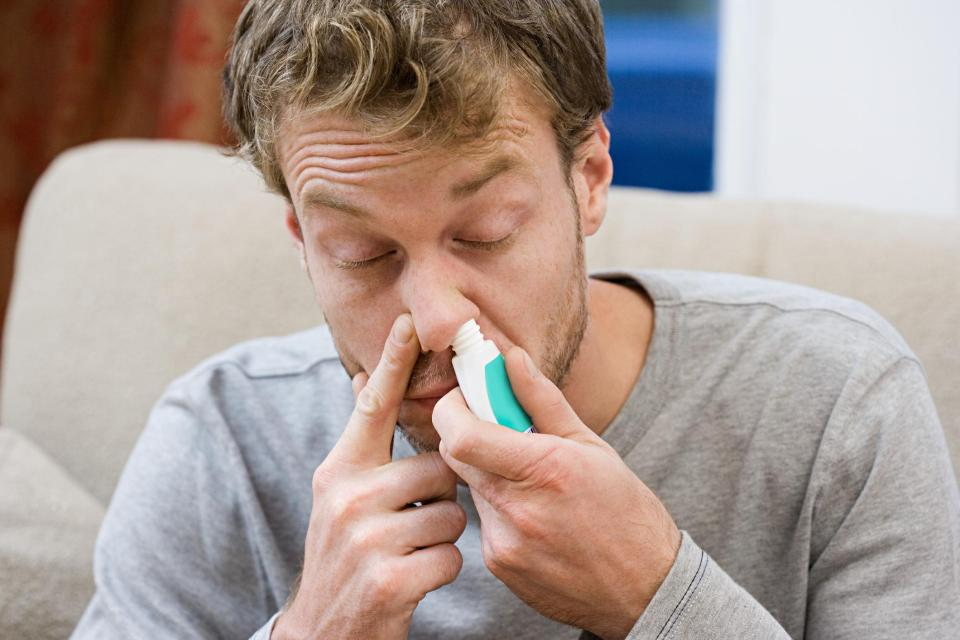A special formulation delivered as a nasal spray helped ease signs in four hours and after 24 hours, new research has shown