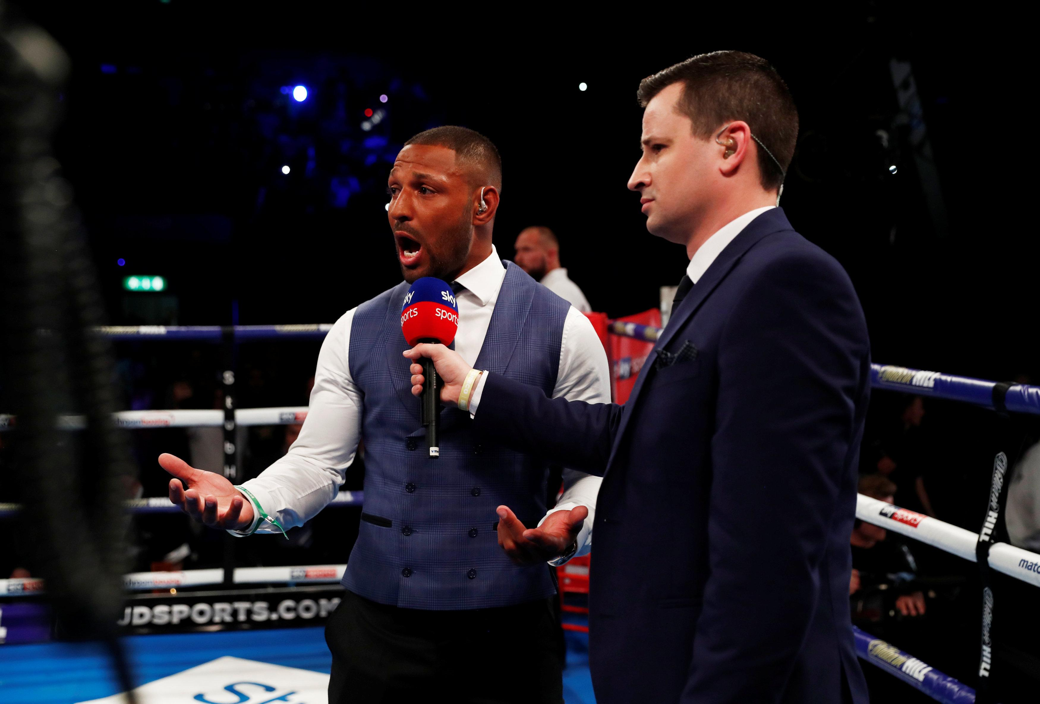 Rival Kell Brook watched Amir Khan's explosive comeback in Liverpool