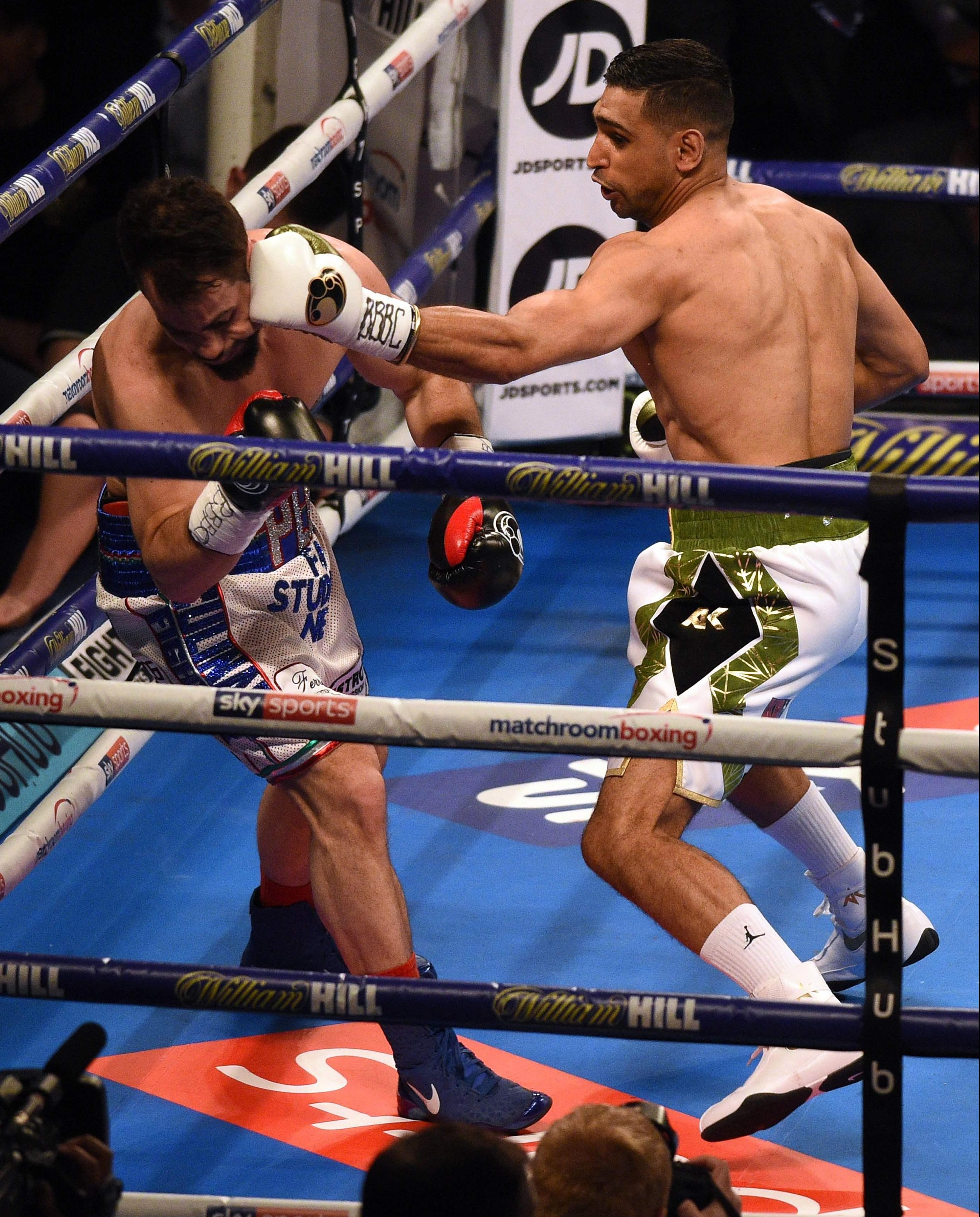 Khan destroyed Phil Lo Greco in just 39 seconds on his return to the ring