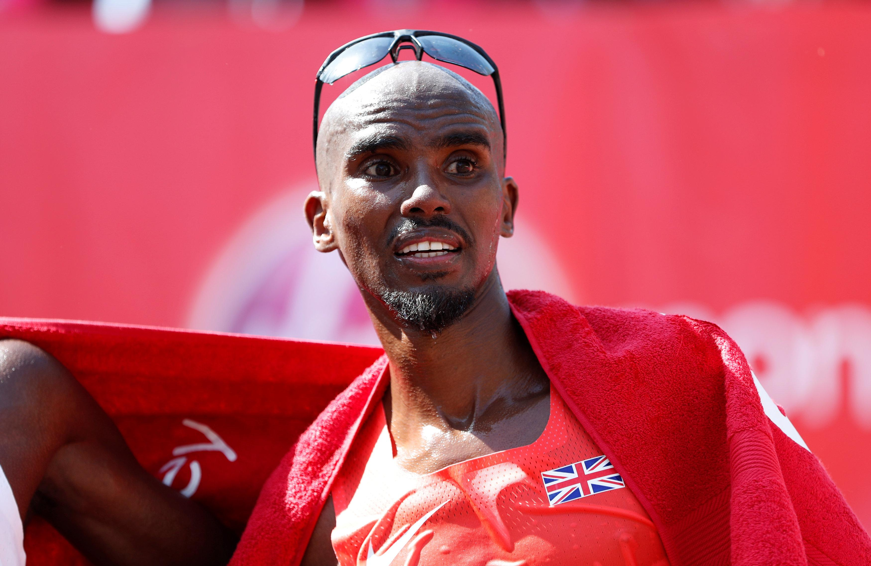 Mo Farah finished third in the Men's elite race at the London Marathon