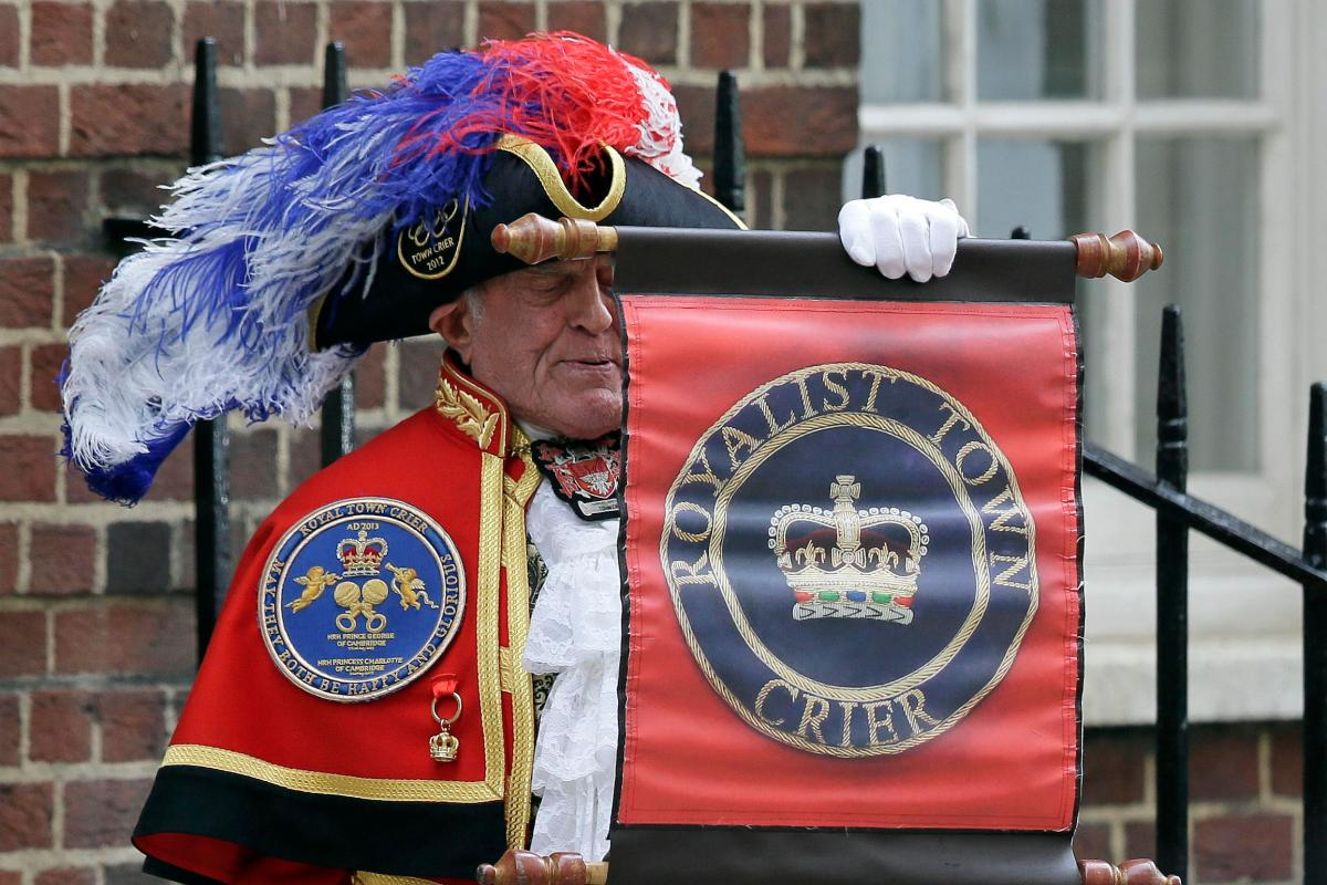 Image result for Royal town crier is a regular -- and unofficial -- fixture at big events