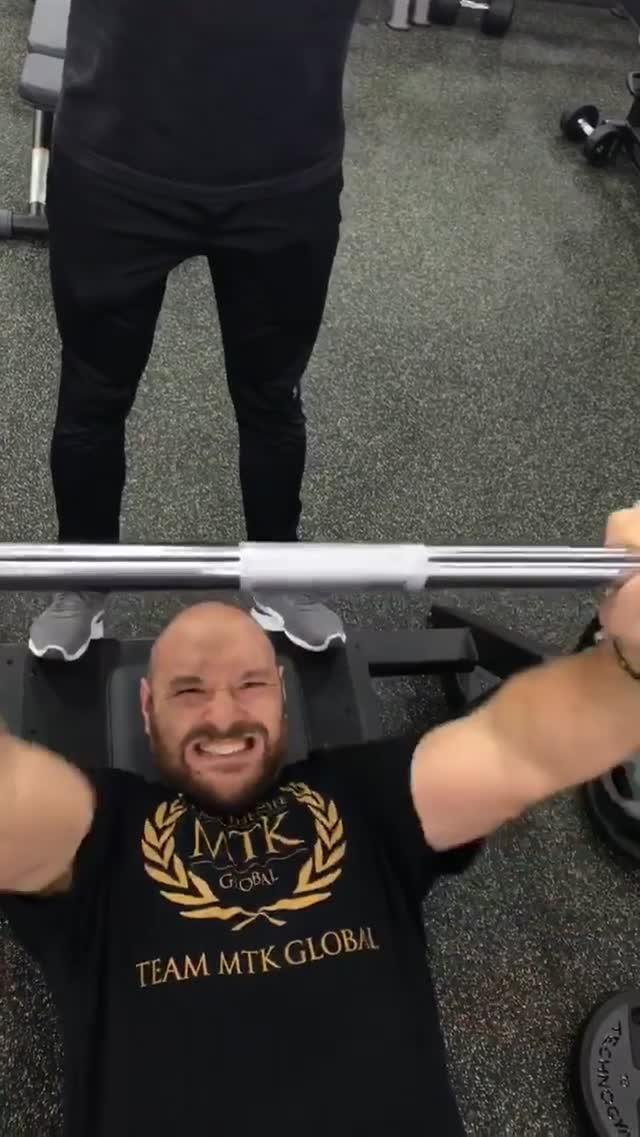 Fury is working hard to get git for his bout in June and has been showing off his progress on social media