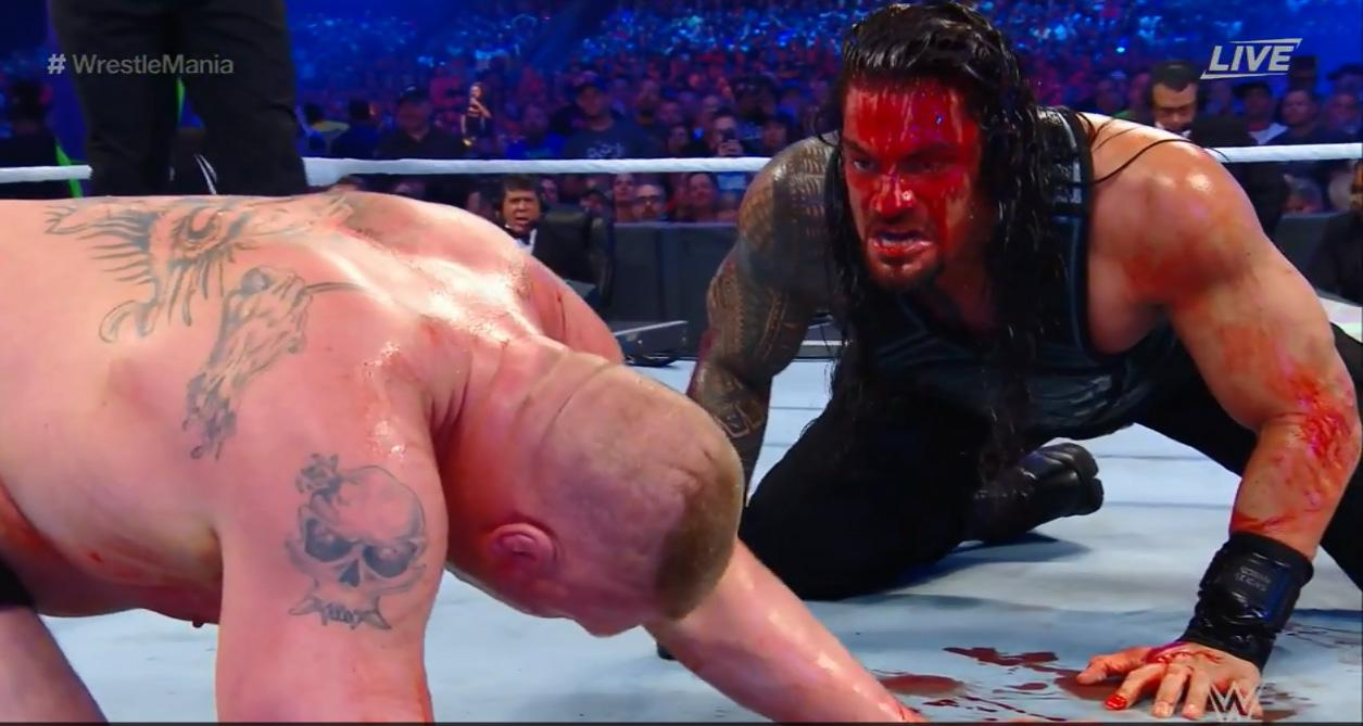 Reigns launched one final blood-soaked attack
