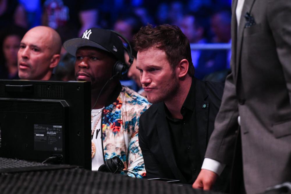 50 Cent sits alongside Hollywood star Chris Pratt