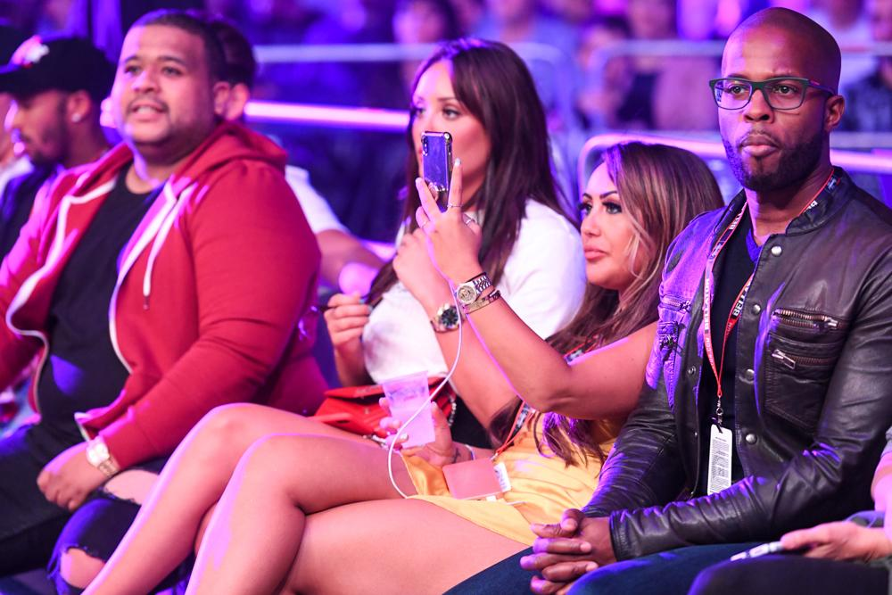 Sophie Kasaei takes in some of the action at Bellator 200