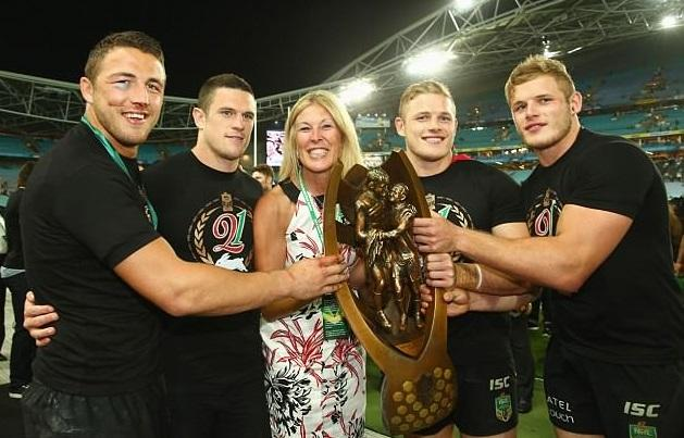 All four Burgess brothers, pictured with mum Julie, are set to launch their own brand