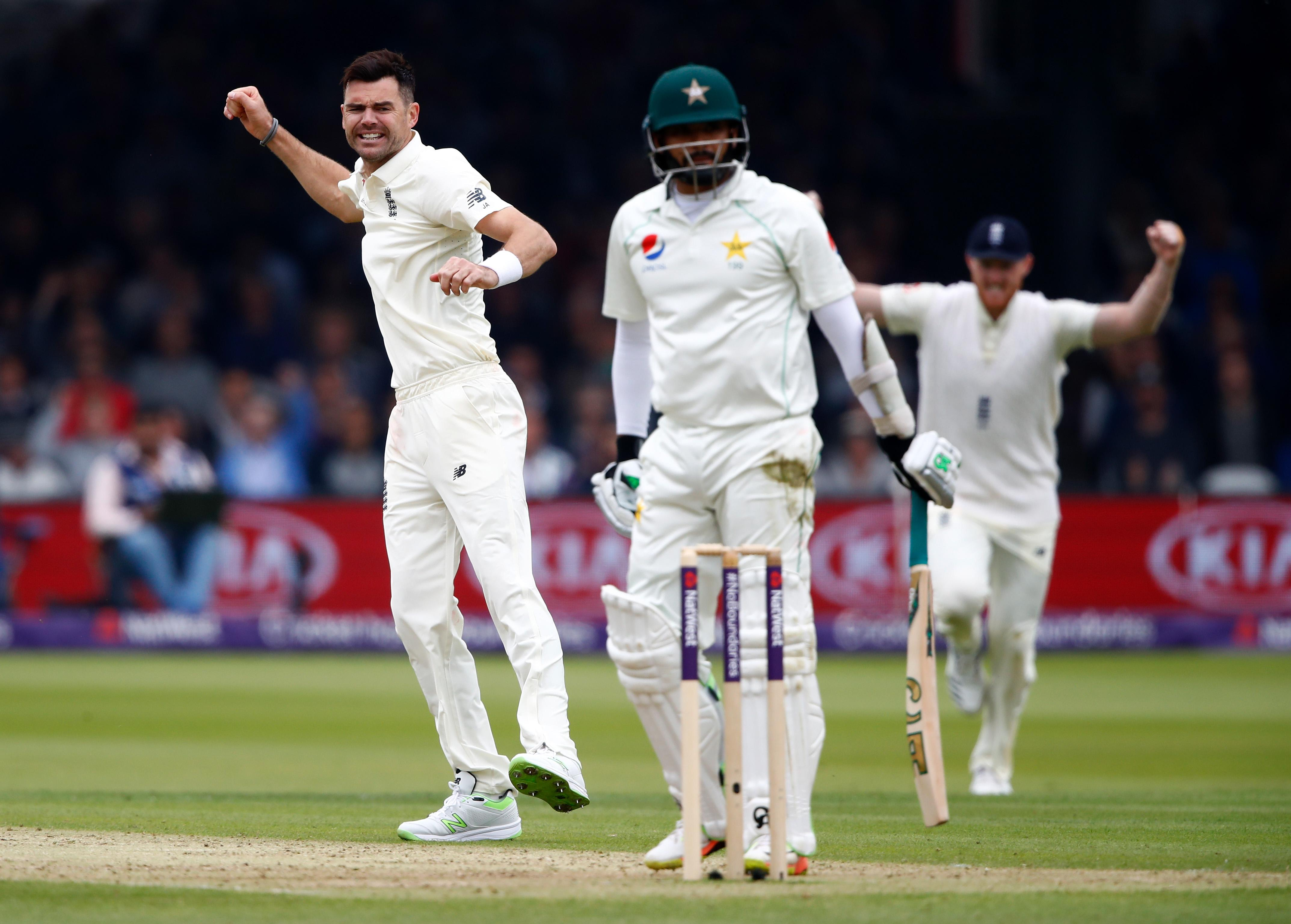 Jimmy Anderson took three wickets on day two