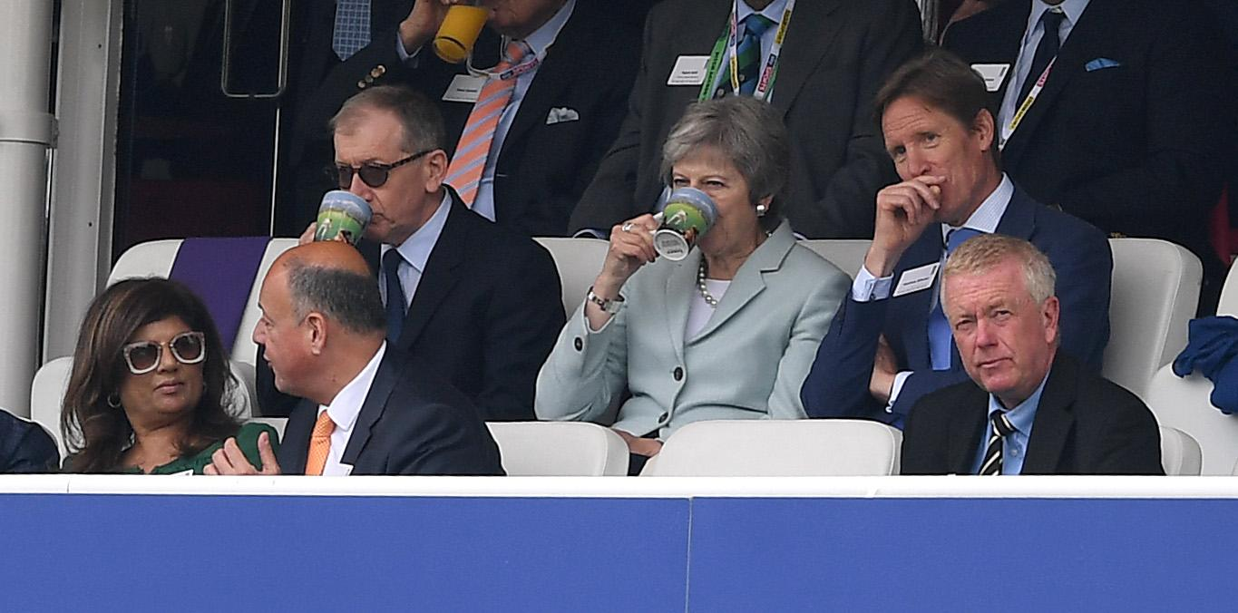 Prime Minister Theresa May was in the crowd at Lord's on Friday
