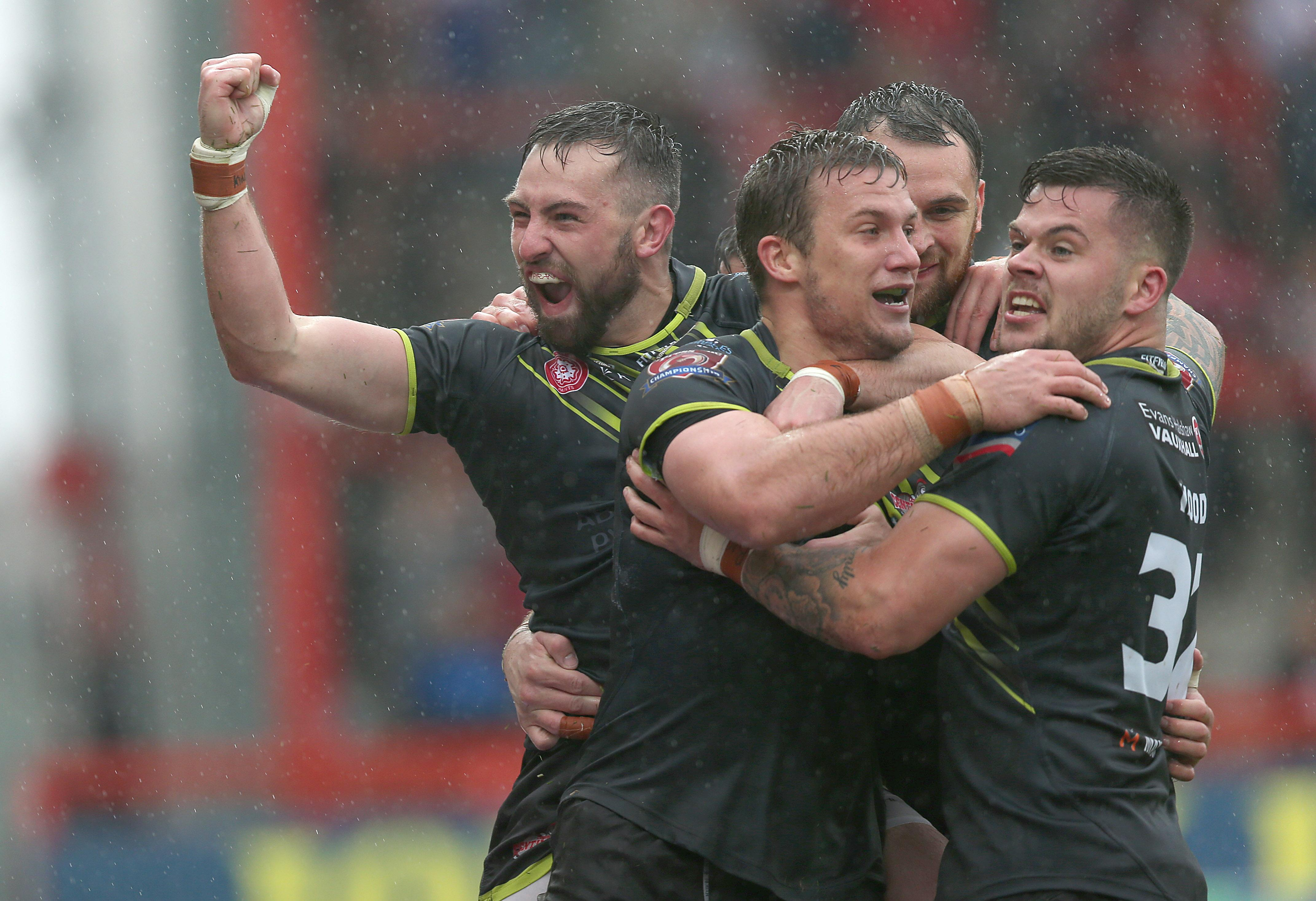 Liam Hood (right) believes the time could be right for a Leigh shock against Leeds