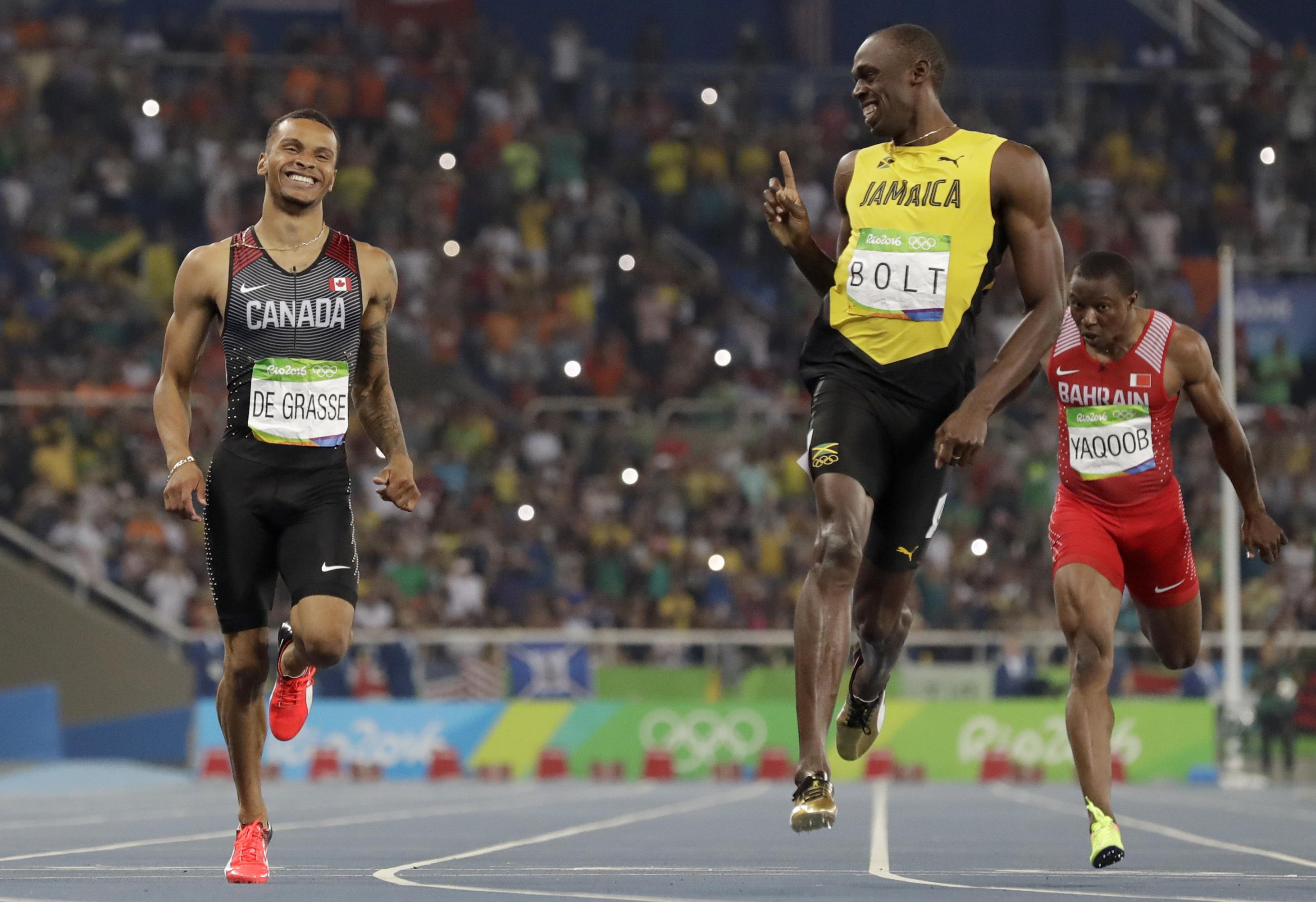 Andre De Grasse will be aiming to be the world's new Usain Bolt