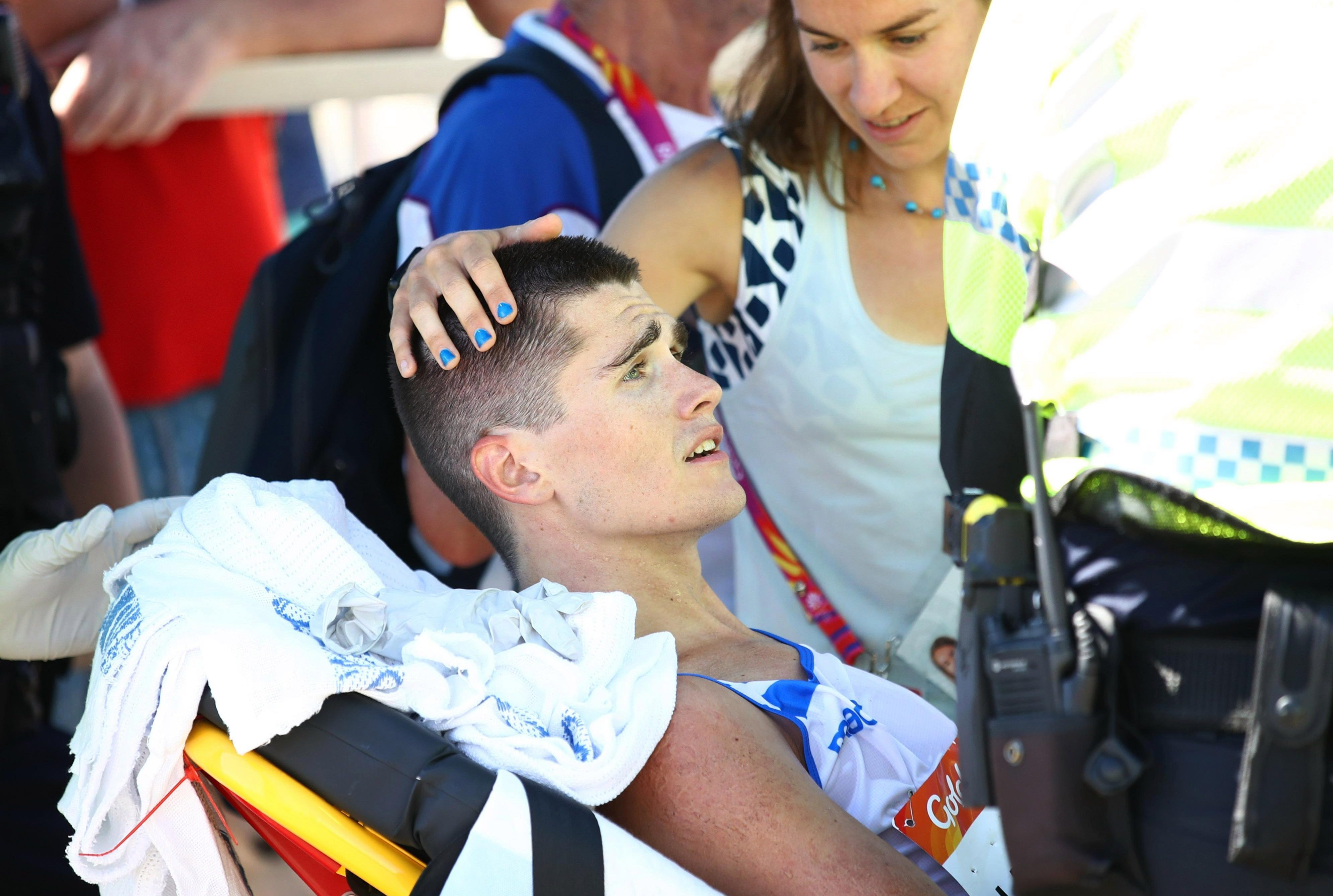 Medics were slated for leaving for runner unattended for several minutes