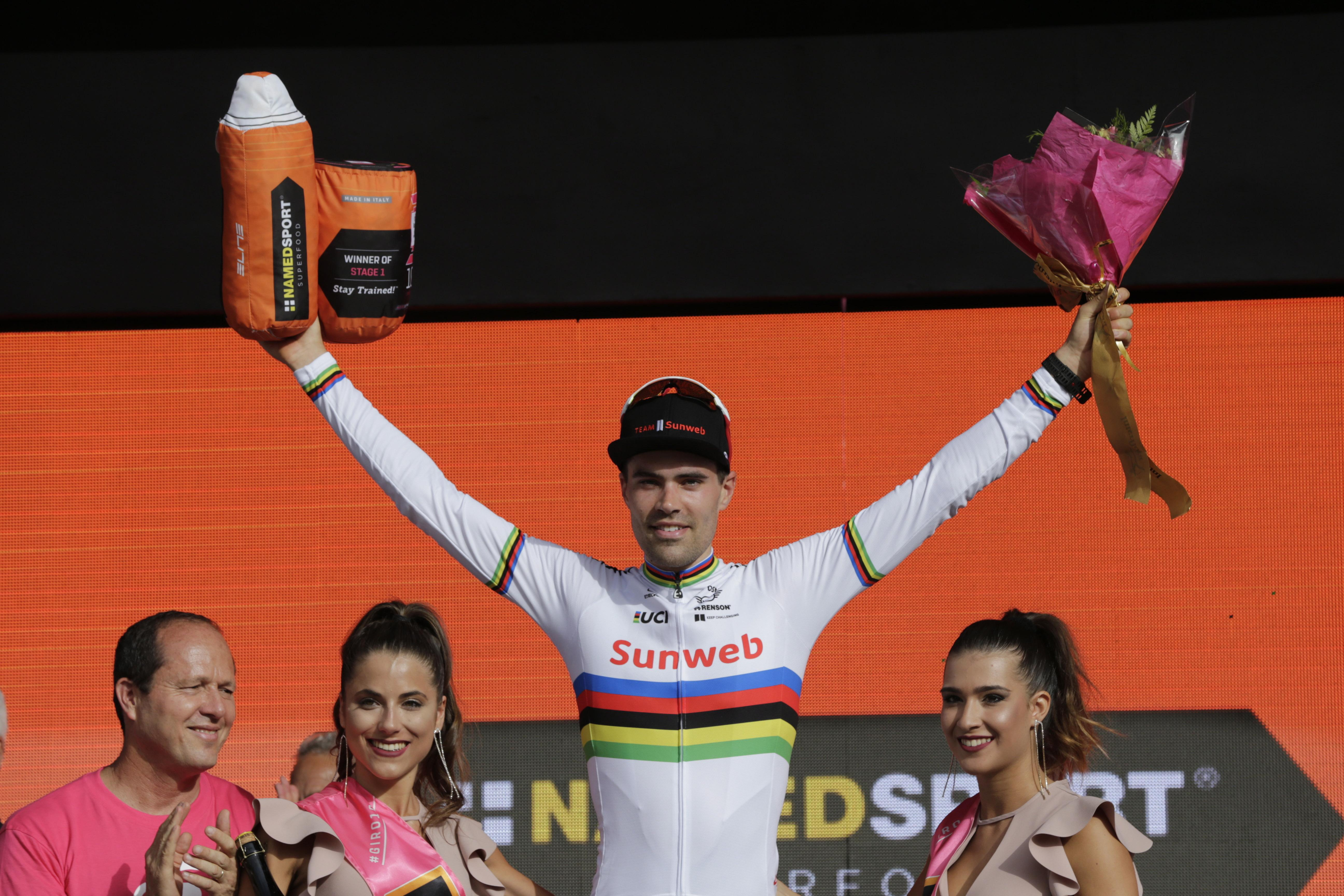 Tom Dumoilin won the first stage of Giro D'Italia in Jerusalem