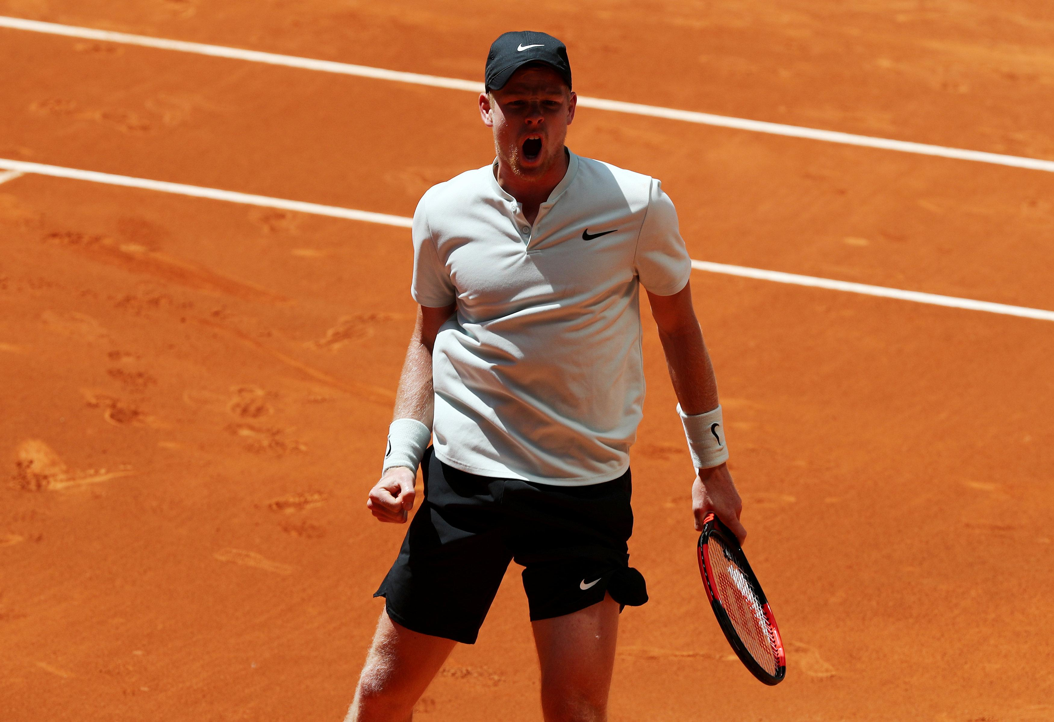 Edmund is now in the quarter-finals of a Master Series event for the first time after seeing of Goffin