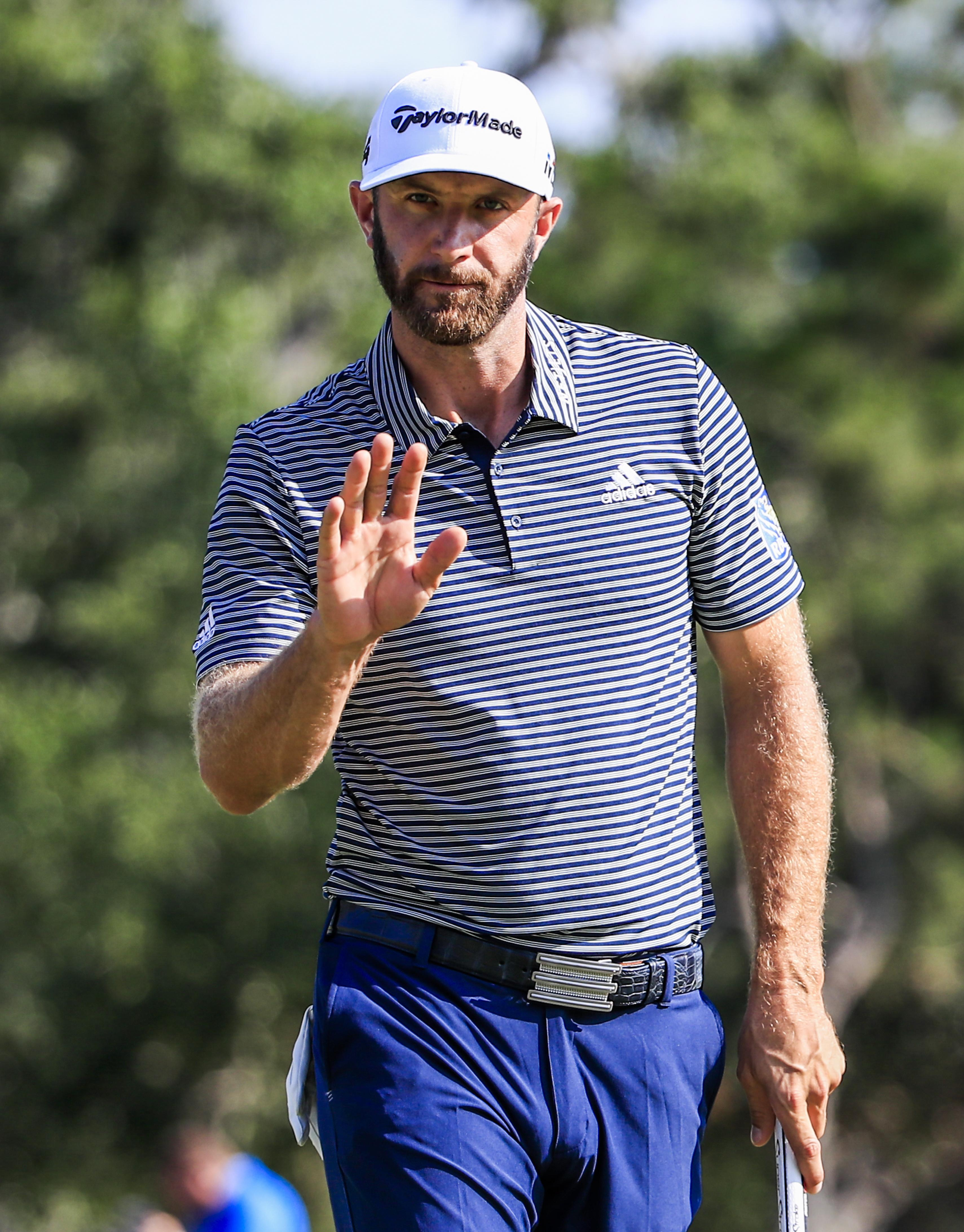 Dustin Johnson is ready to put the stop of anyone taking his world No 1 spot