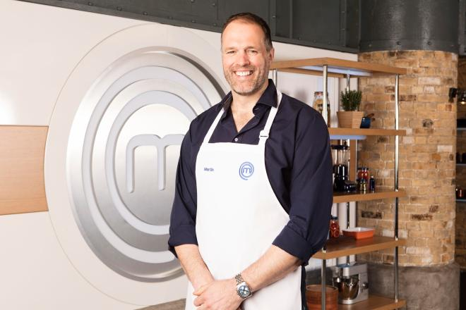 Martin Bayfield has been confirmed in the line-up for Celebrity Masterchef 2018