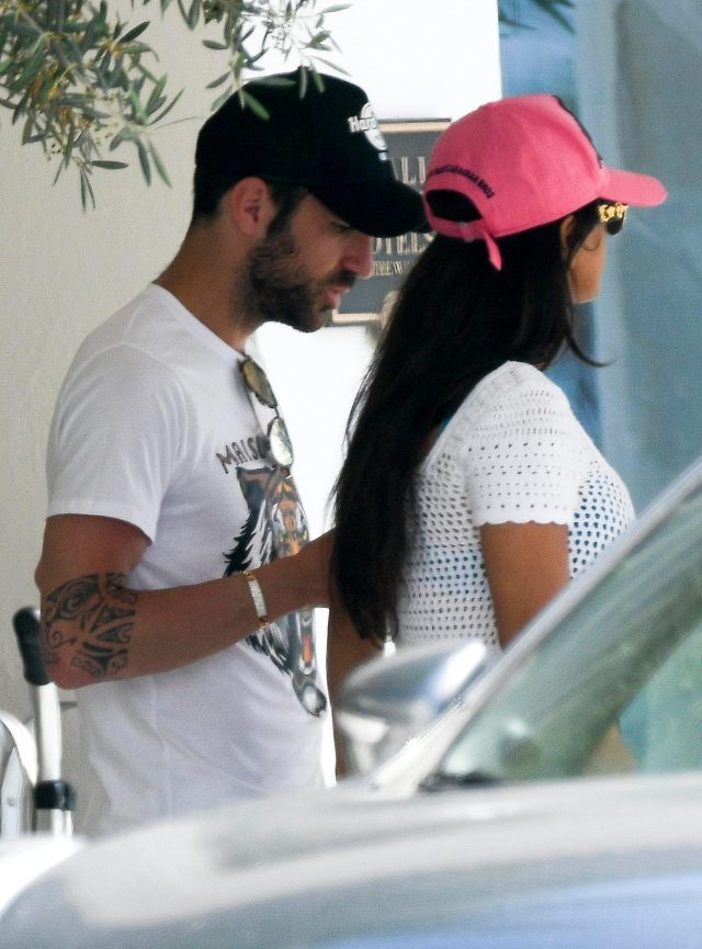 Cesc Fabregas and his wife Daniella Semaan headed straight for the beach in Ibiza